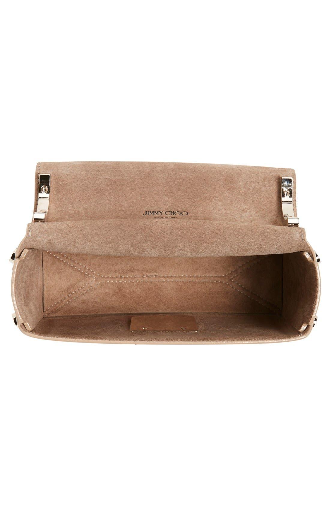'Lockett Petite' Metallic Leather Shoulder Bag,                             Alternate thumbnail 8, color,