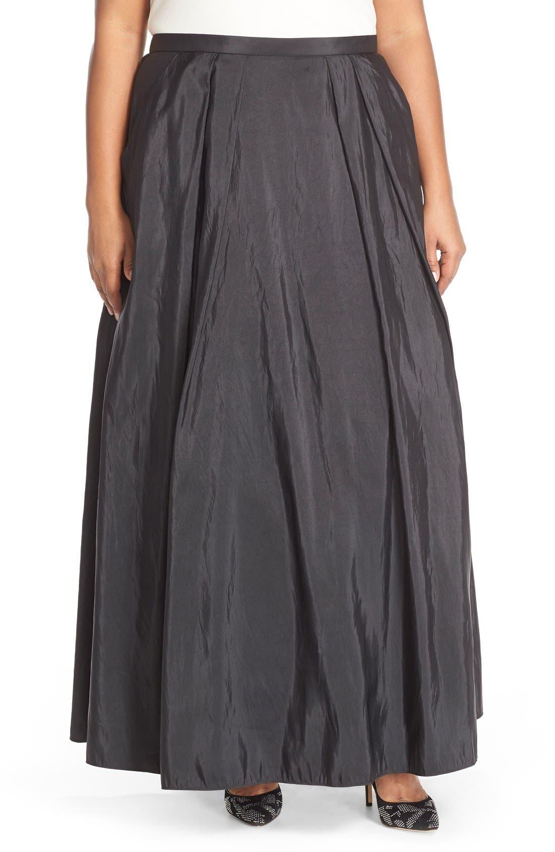 Taffeta Ballgown Skirt,                             Main thumbnail 1, color,                             BLACK