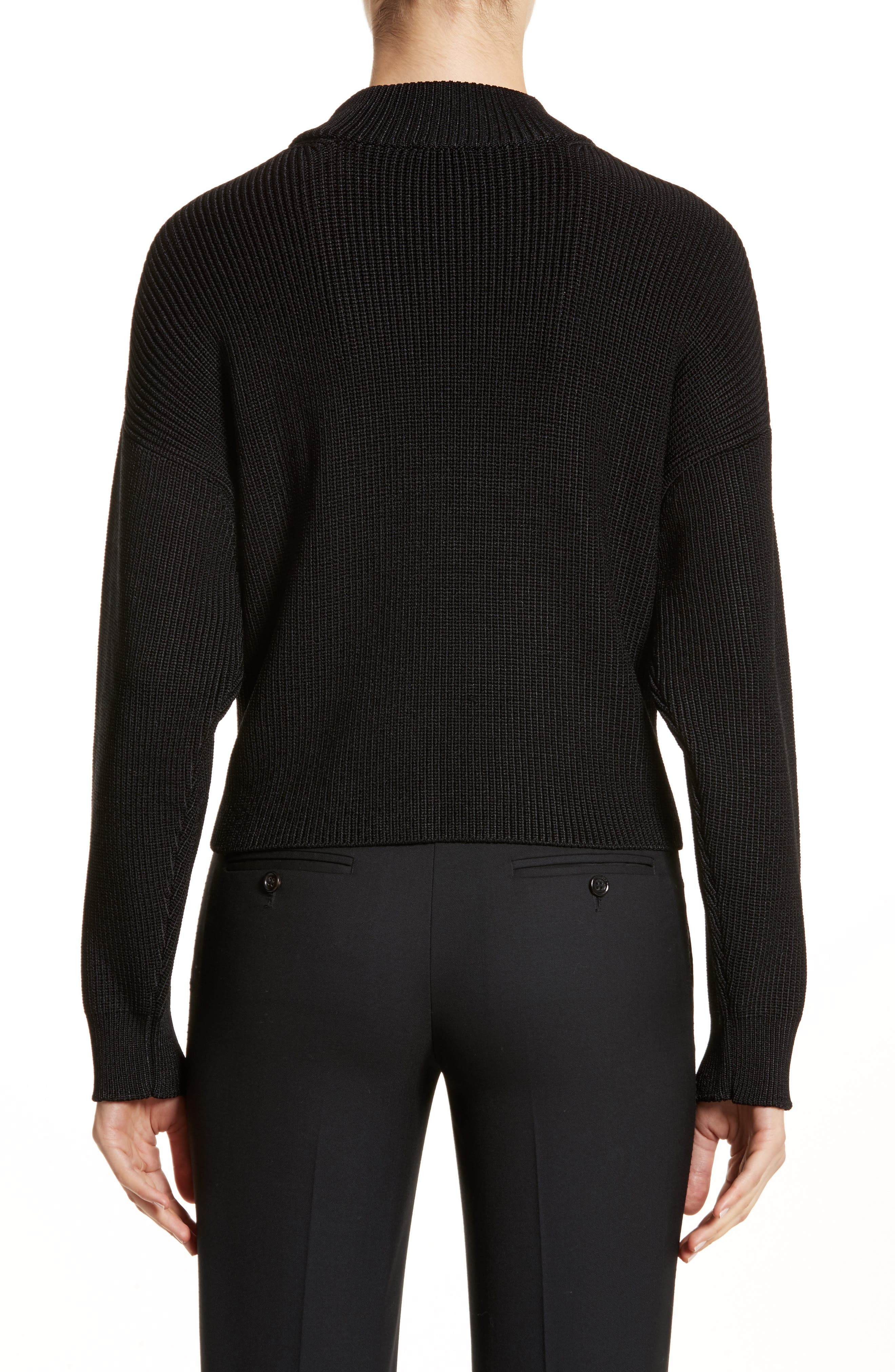 Mock Neck Sweater,                             Alternate thumbnail 2, color,                             001
