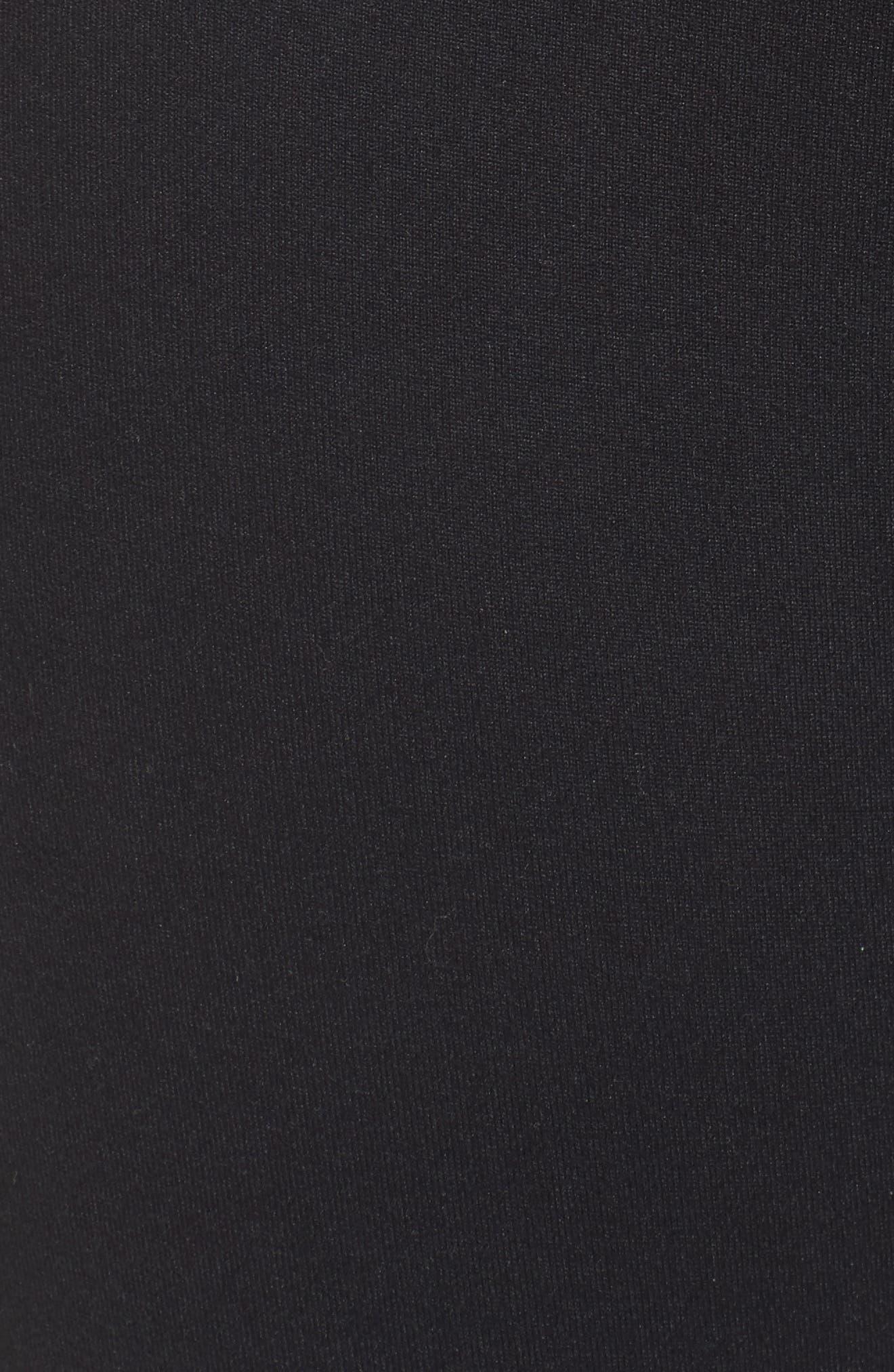 High Waist Midi Leggings,                             Alternate thumbnail 6, color,                             001