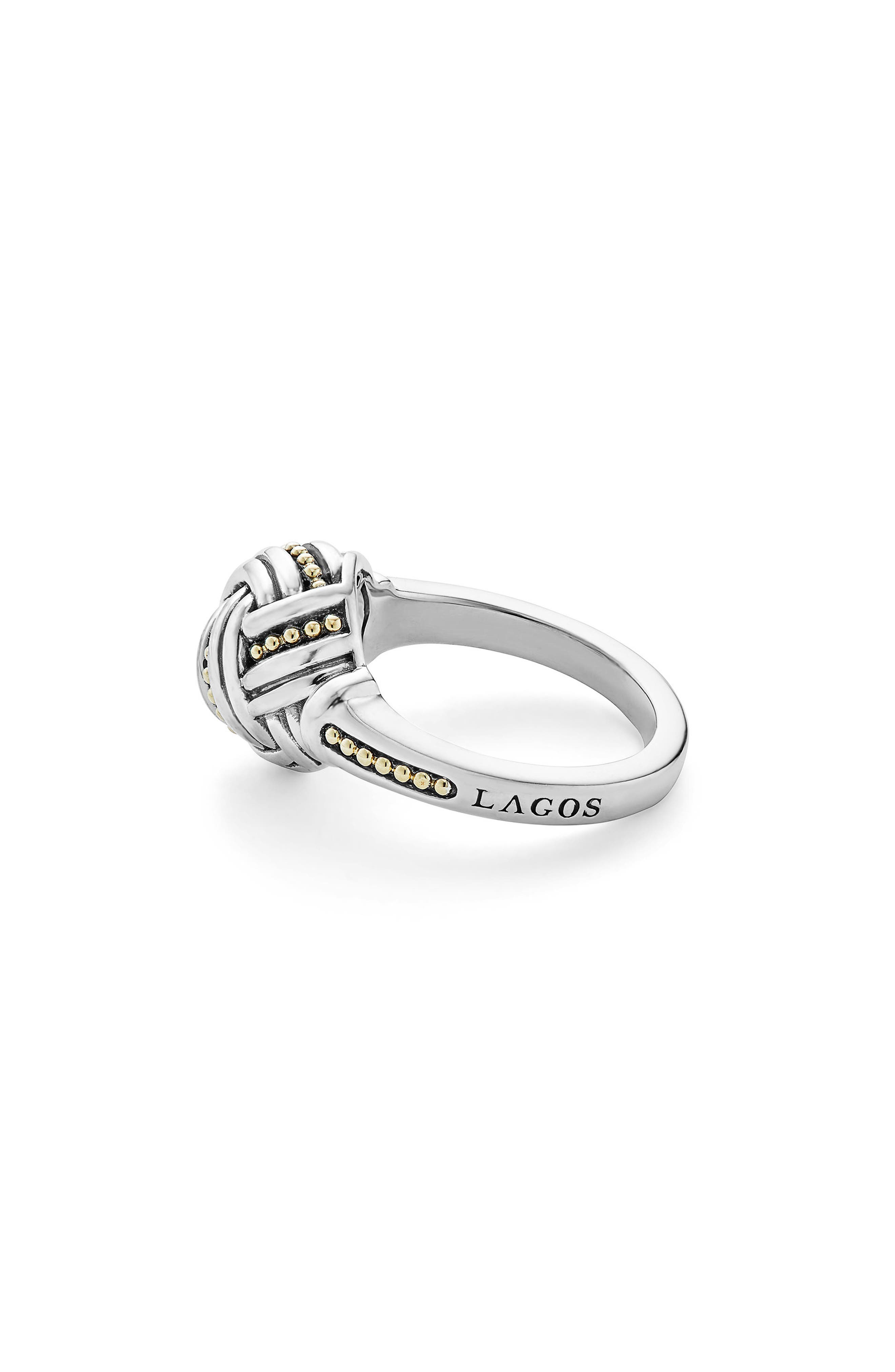 Small Round Ring,                             Alternate thumbnail 4, color,                             SILVER/ GOLD