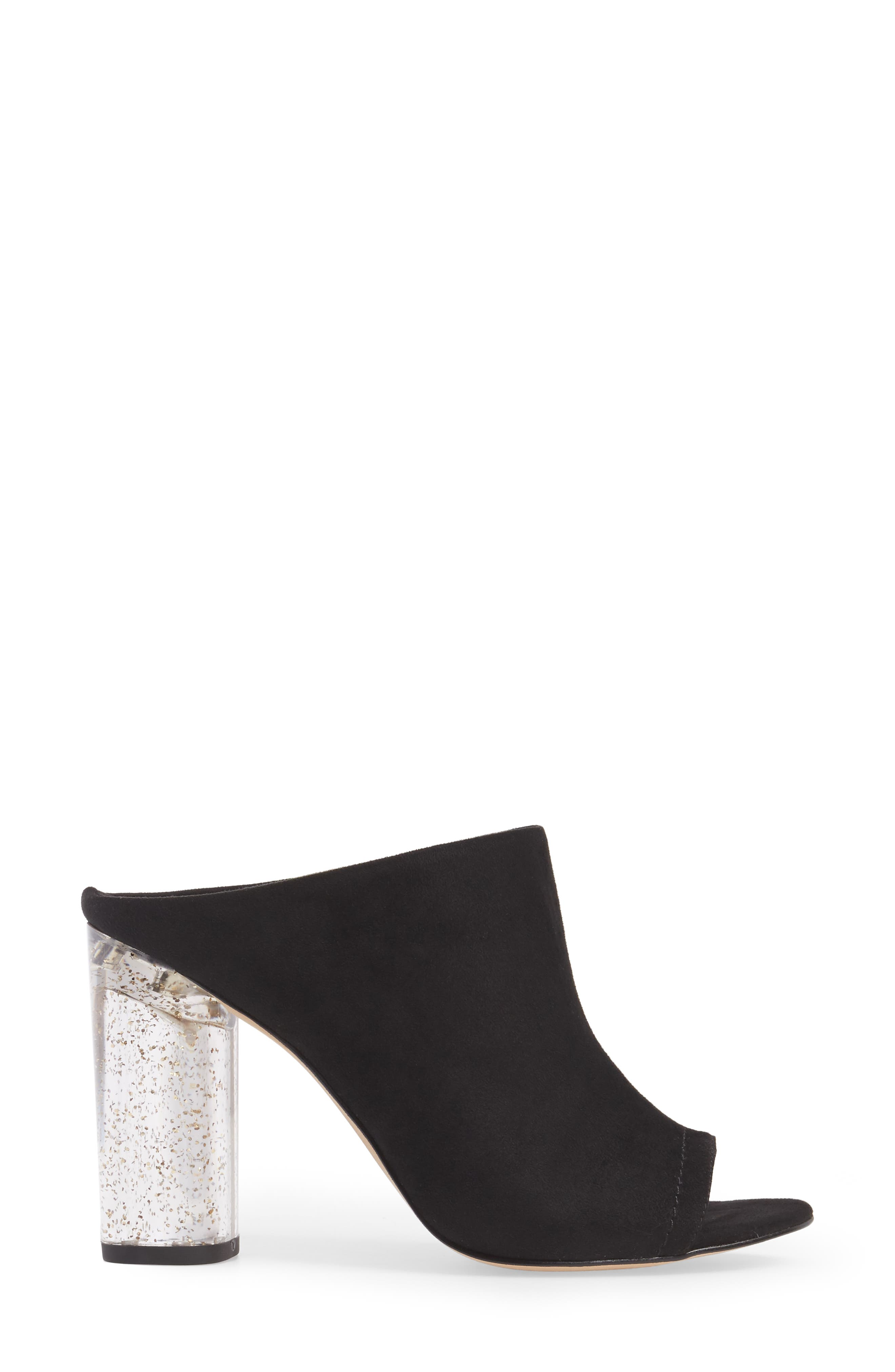 Renee Block Heel Mule,                             Alternate thumbnail 3, color,                             001