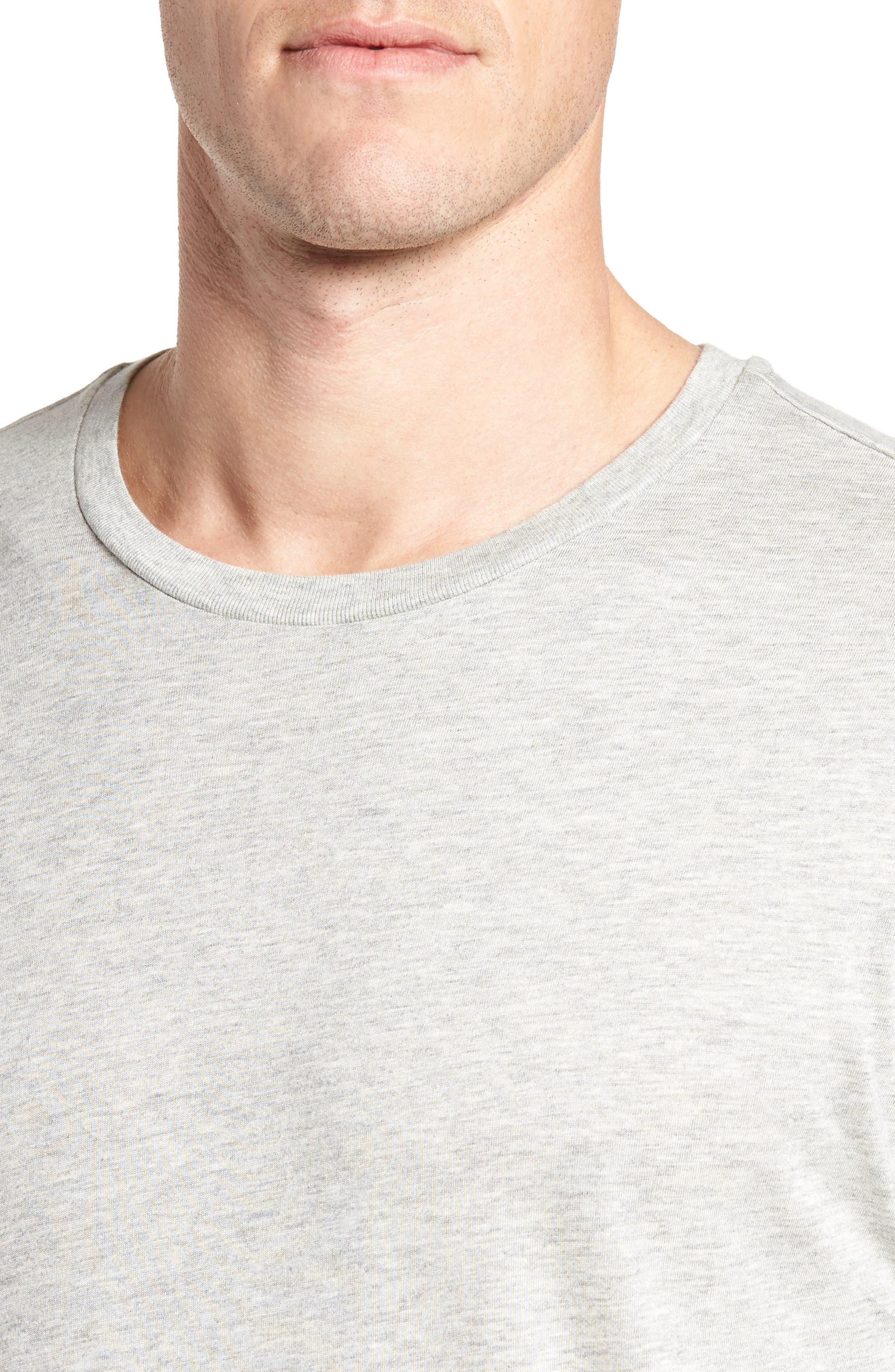 Supreme Comfort Cotton & Modal T-Shirt,                             Alternate thumbnail 4, color,                             024