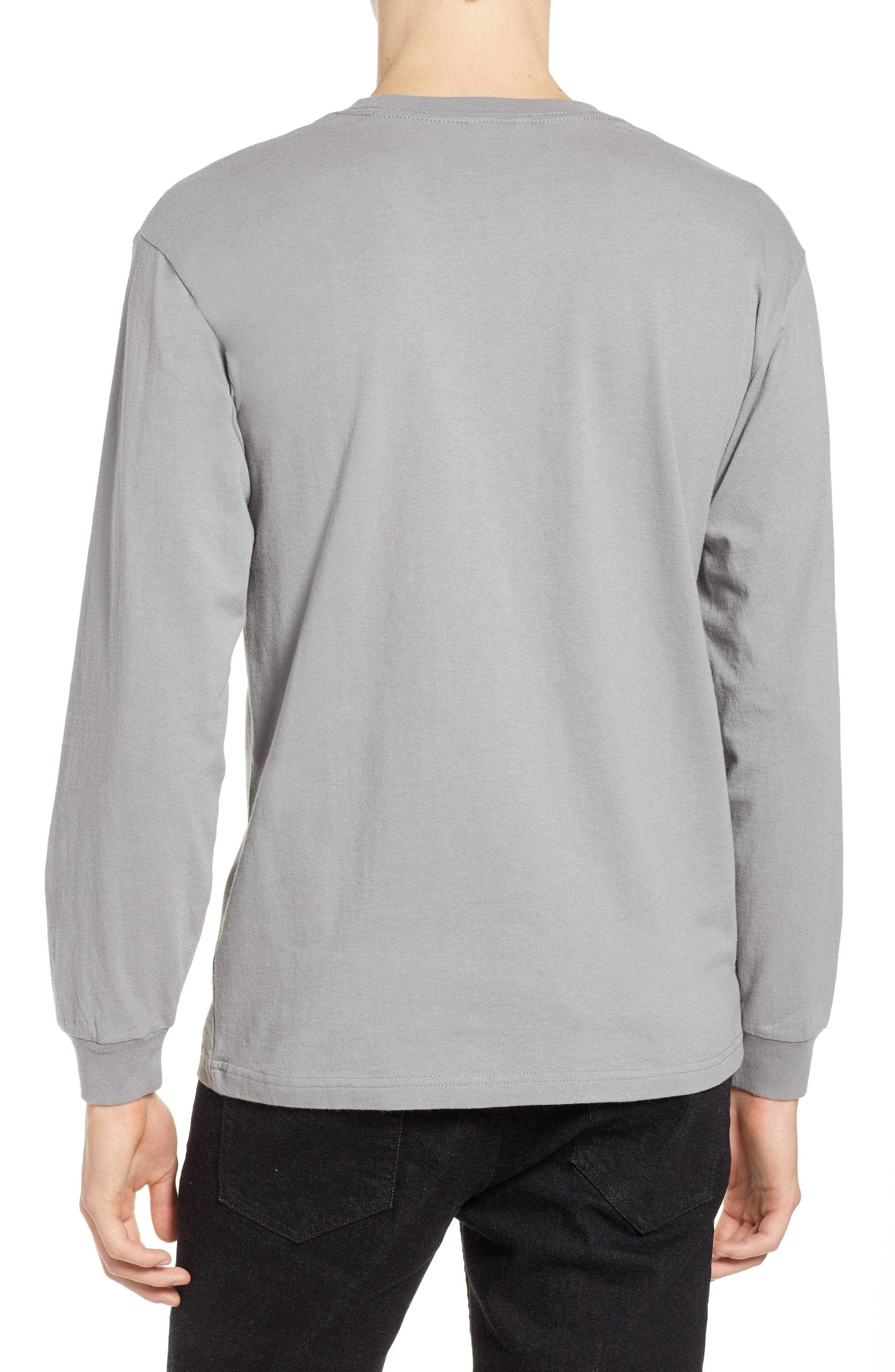 Ramsey Long Sleeve Pocket T-Shirt,                             Alternate thumbnail 2, color,                             CEMENT