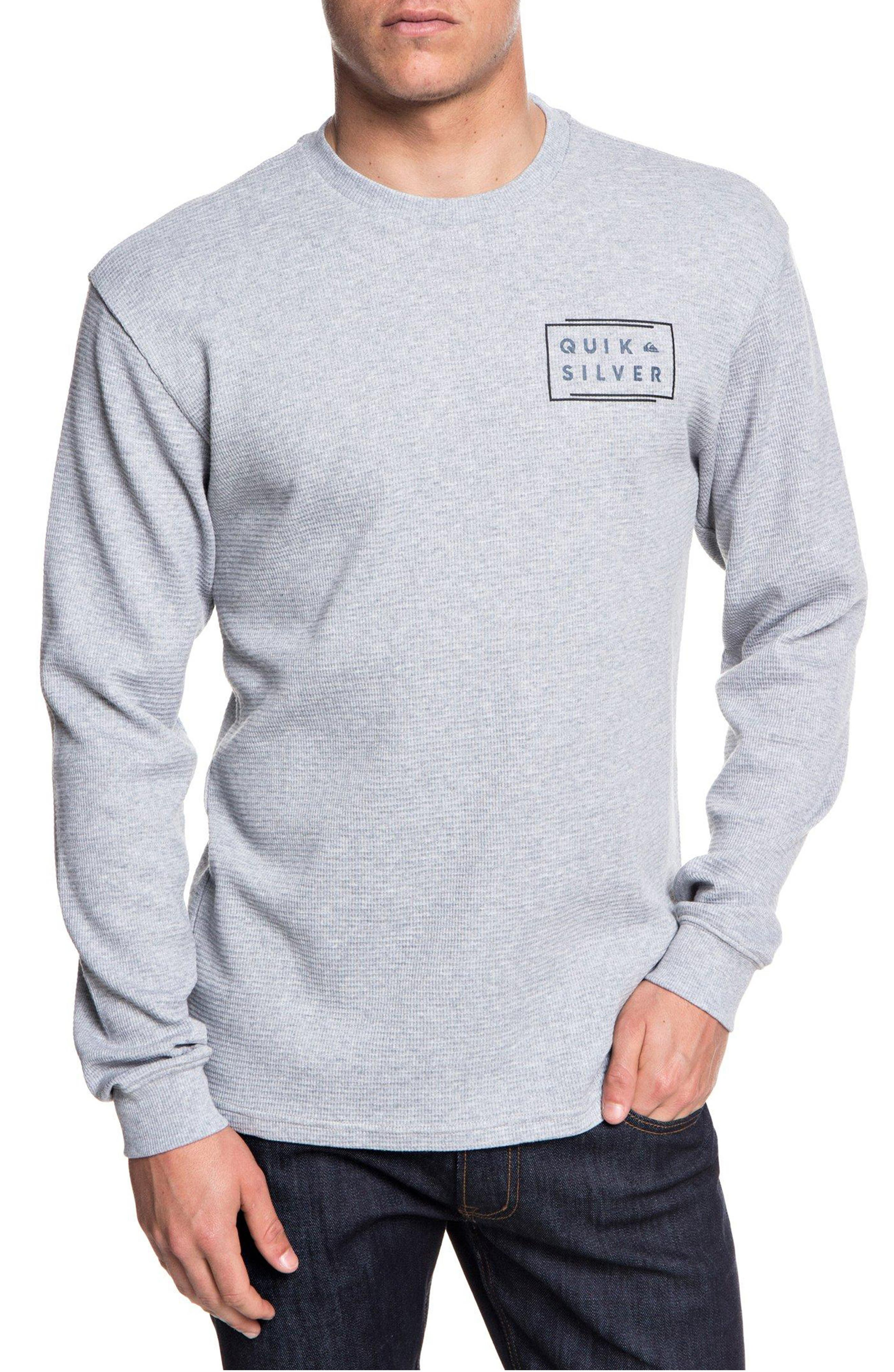 QUIKSILVER Worldwide Thermal T-Shirt in Athletic Heather