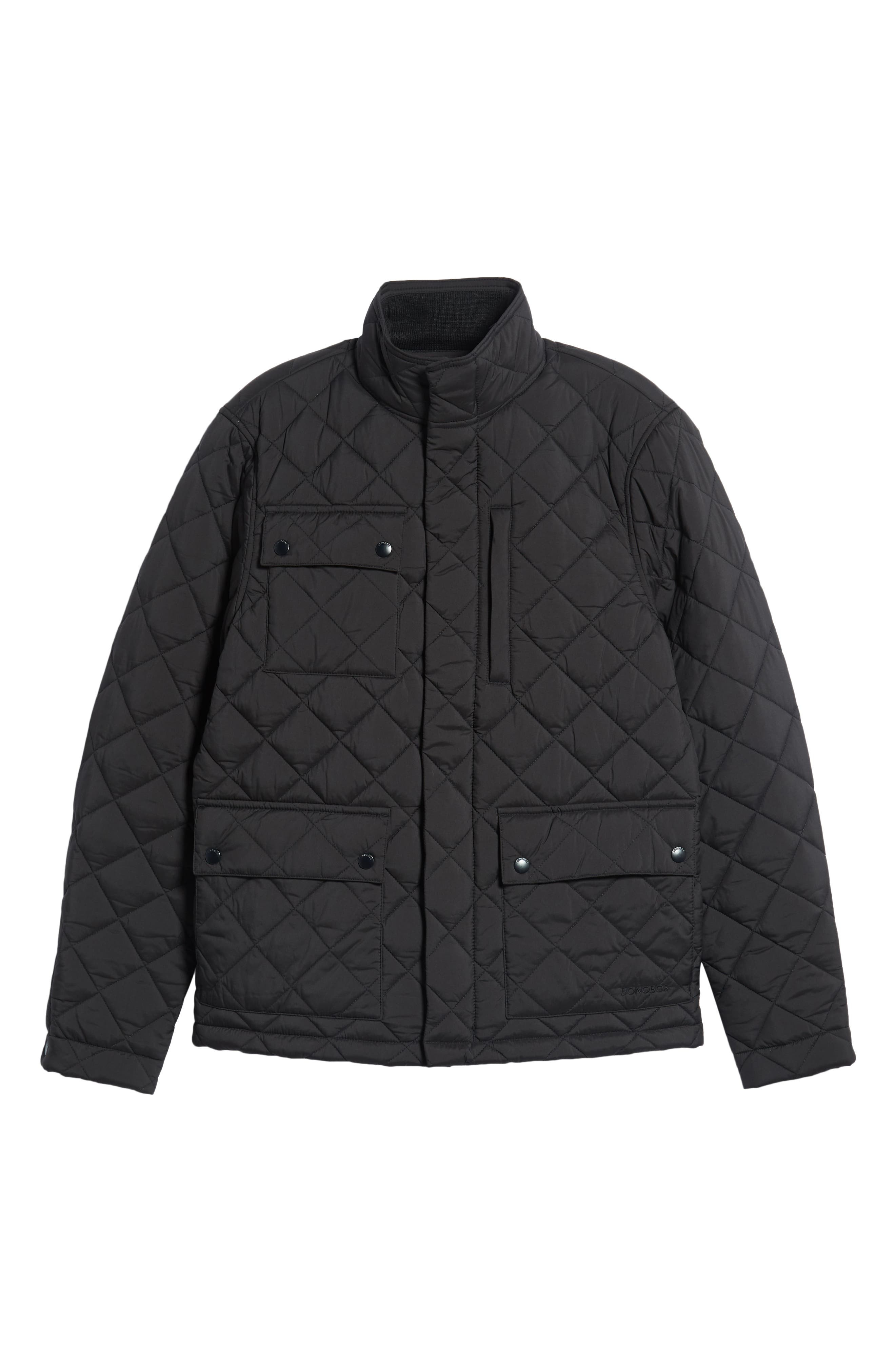 Banff Quilted Jacket,                             Alternate thumbnail 5, color,                             BLACK