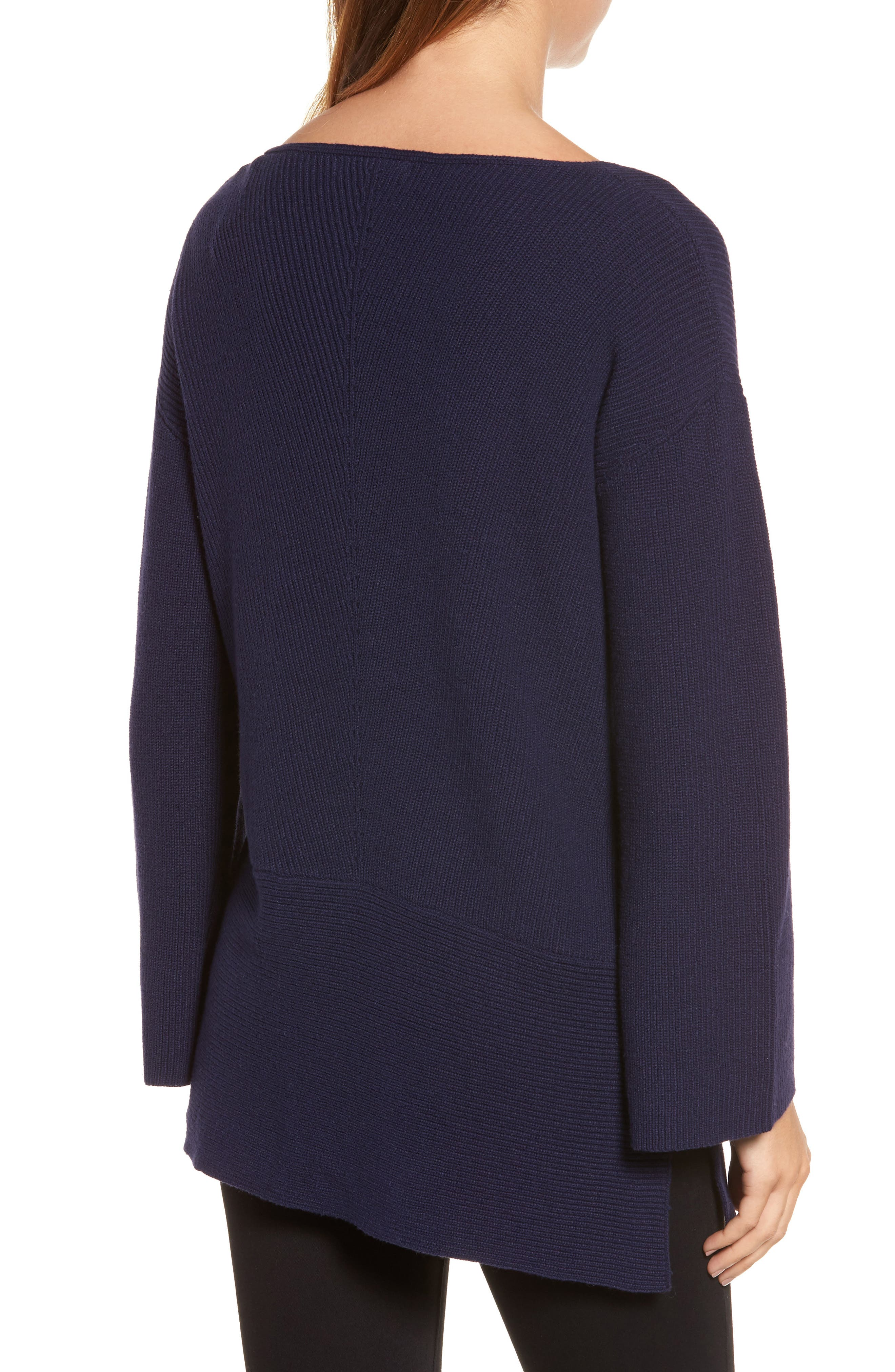 Ribbed Asymmetrical Hem Sweater,                             Alternate thumbnail 2, color,                             429
