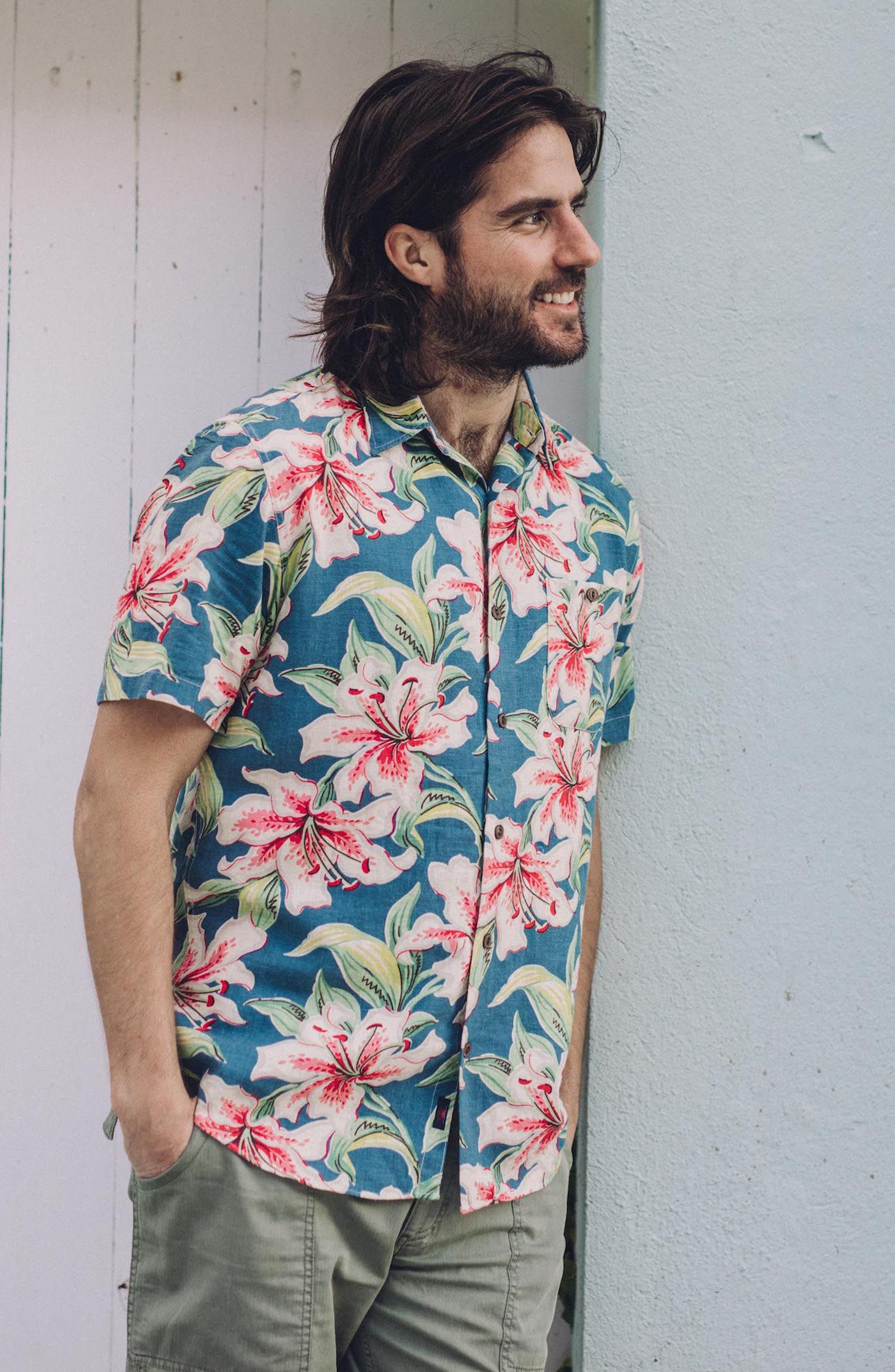 Tropical Atoll Sport Shirt,                             Alternate thumbnail 8, color,