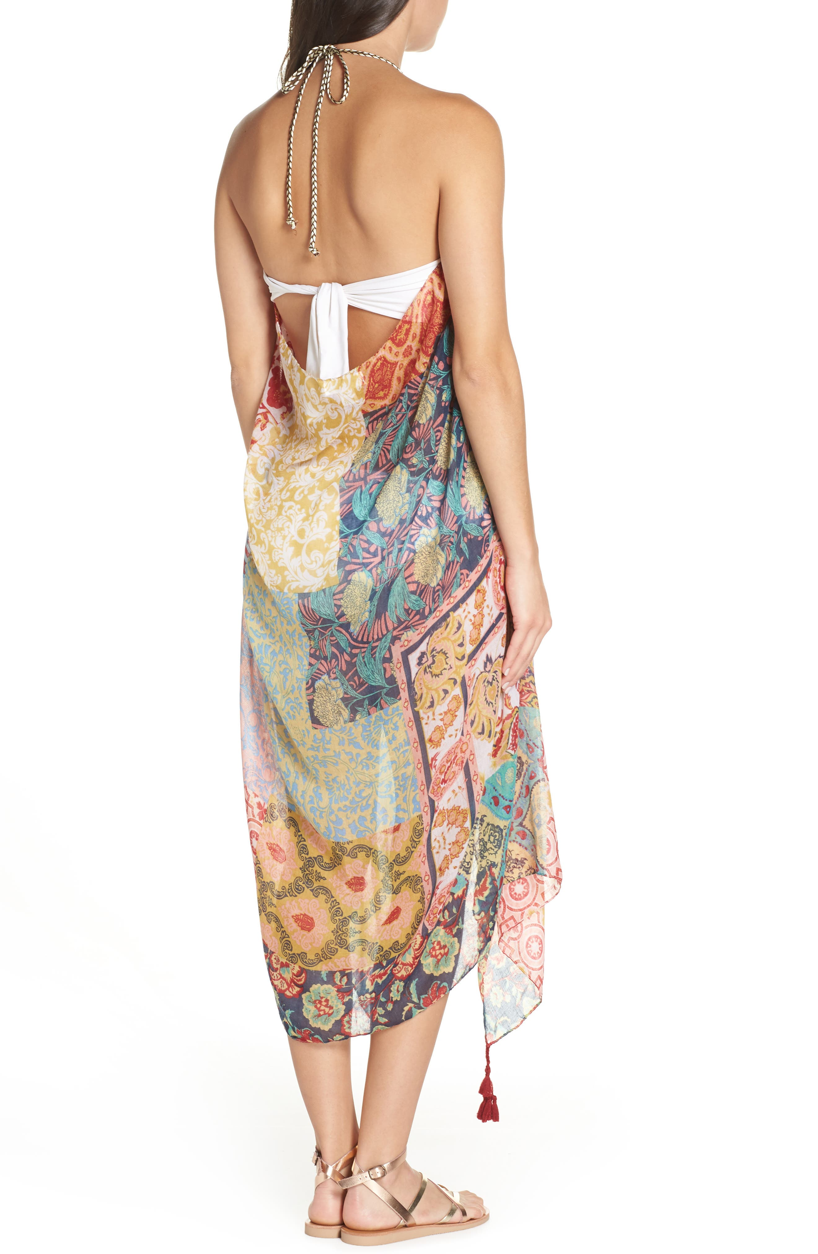 Beach to Street Cover-Up Dress,                             Alternate thumbnail 2, color,                             MULTI