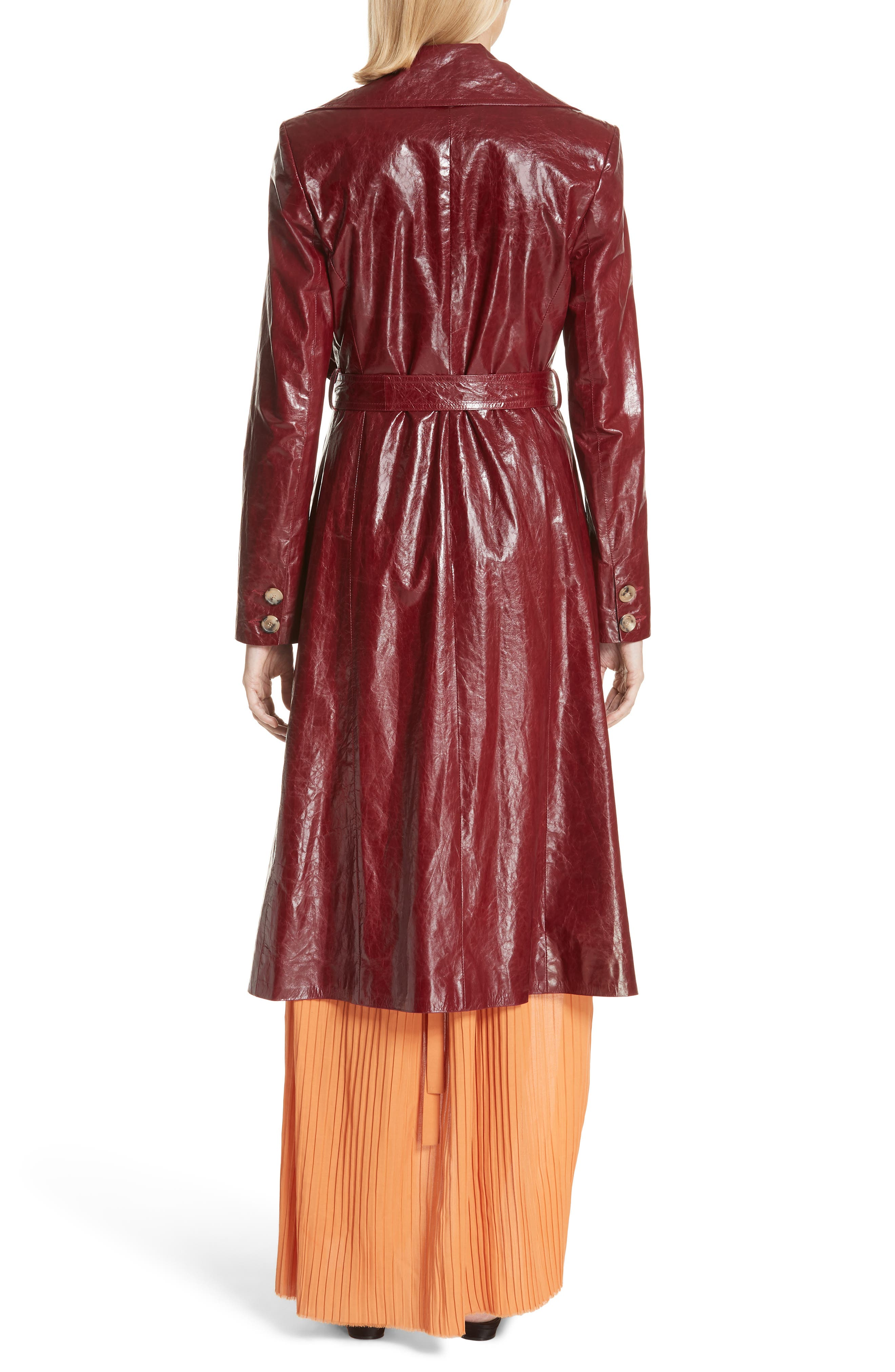 MAGDA BUTRYM,                             Leather Trench Coat,                             Alternate thumbnail 2, color,                             930