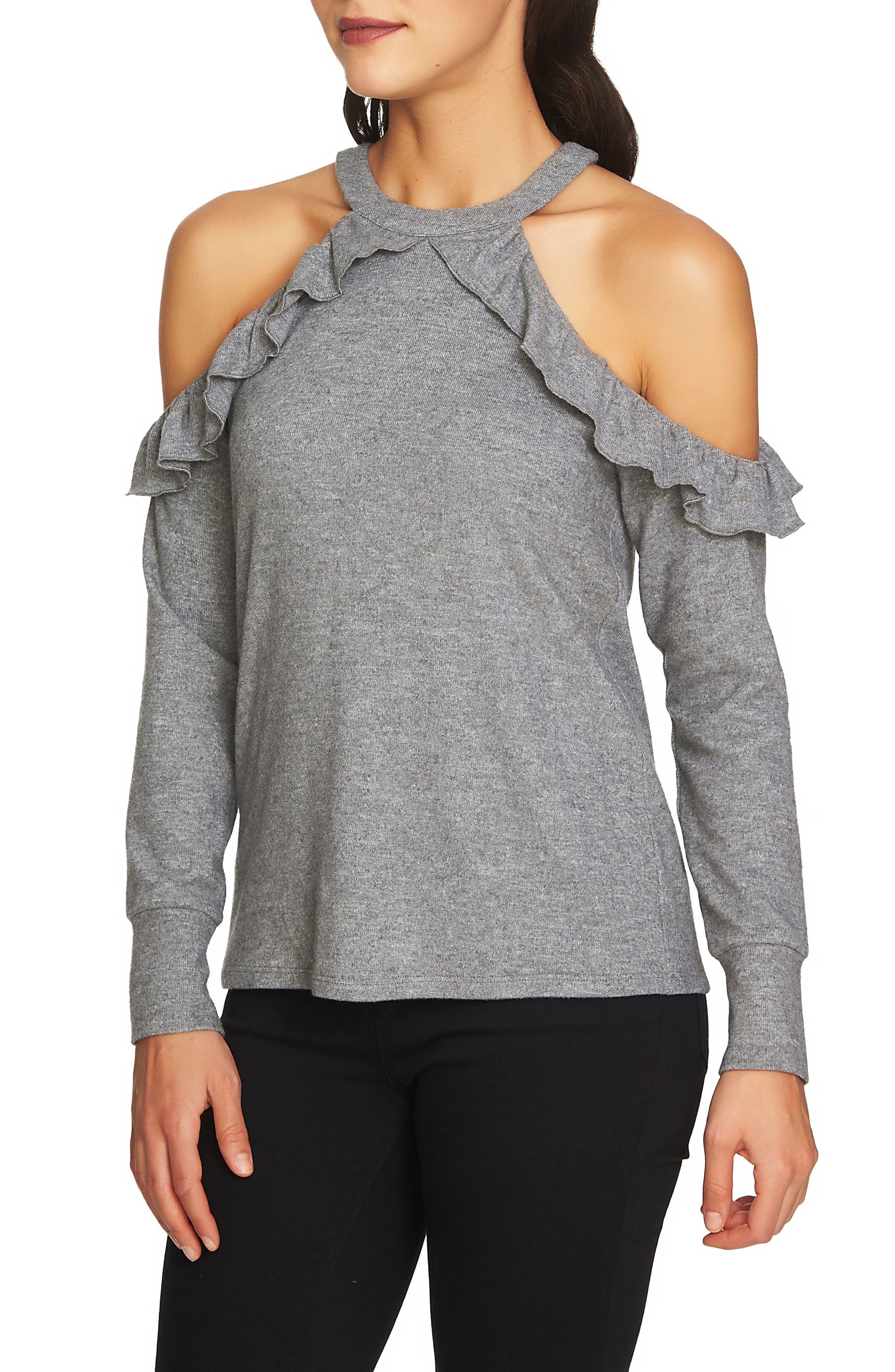 The Cozy Cold Shoulder Knit Top,                             Alternate thumbnail 9, color,