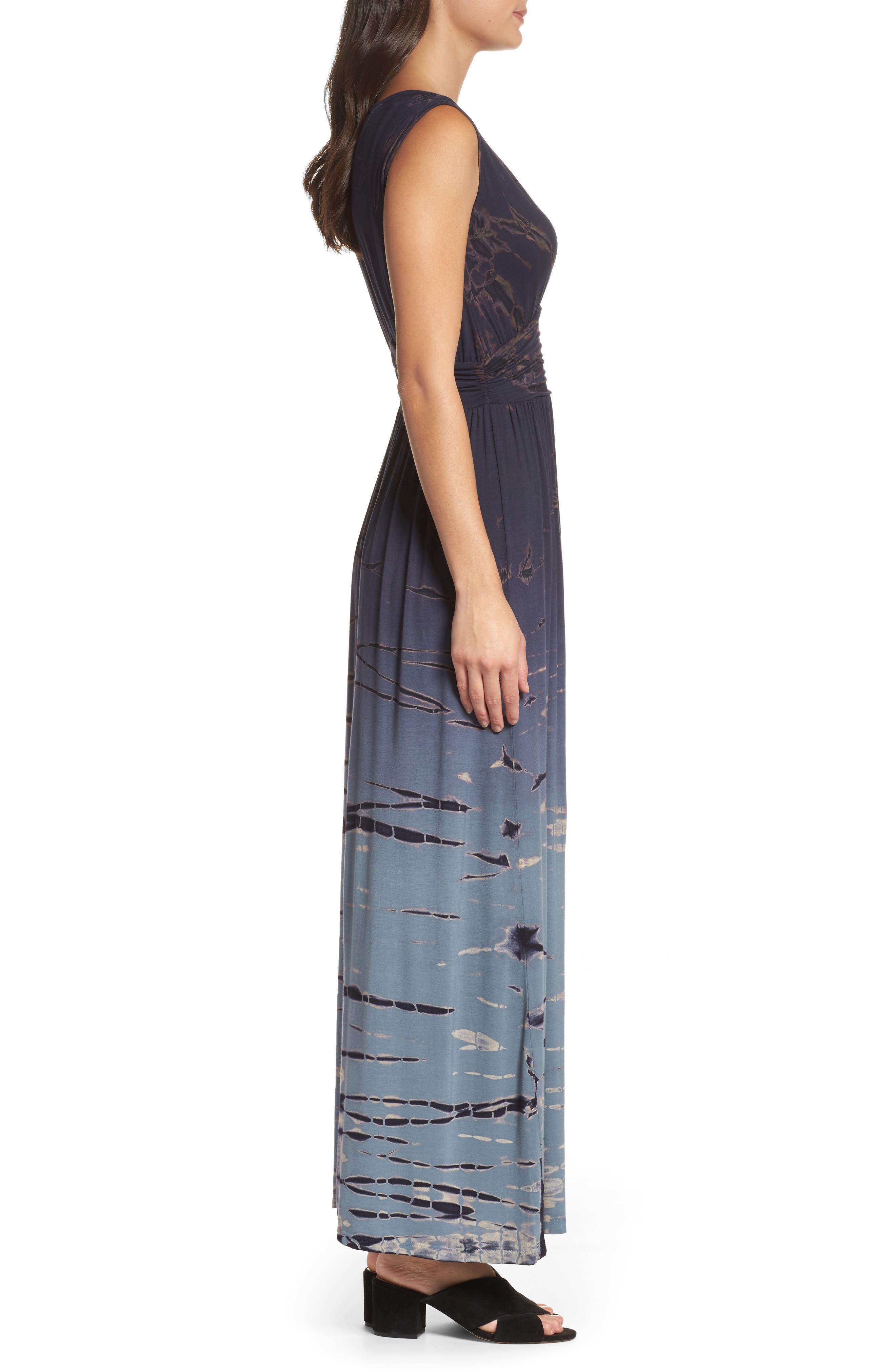 Tie Dye Ombré Jersey Maxi Dress,                             Alternate thumbnail 3, color,                             400