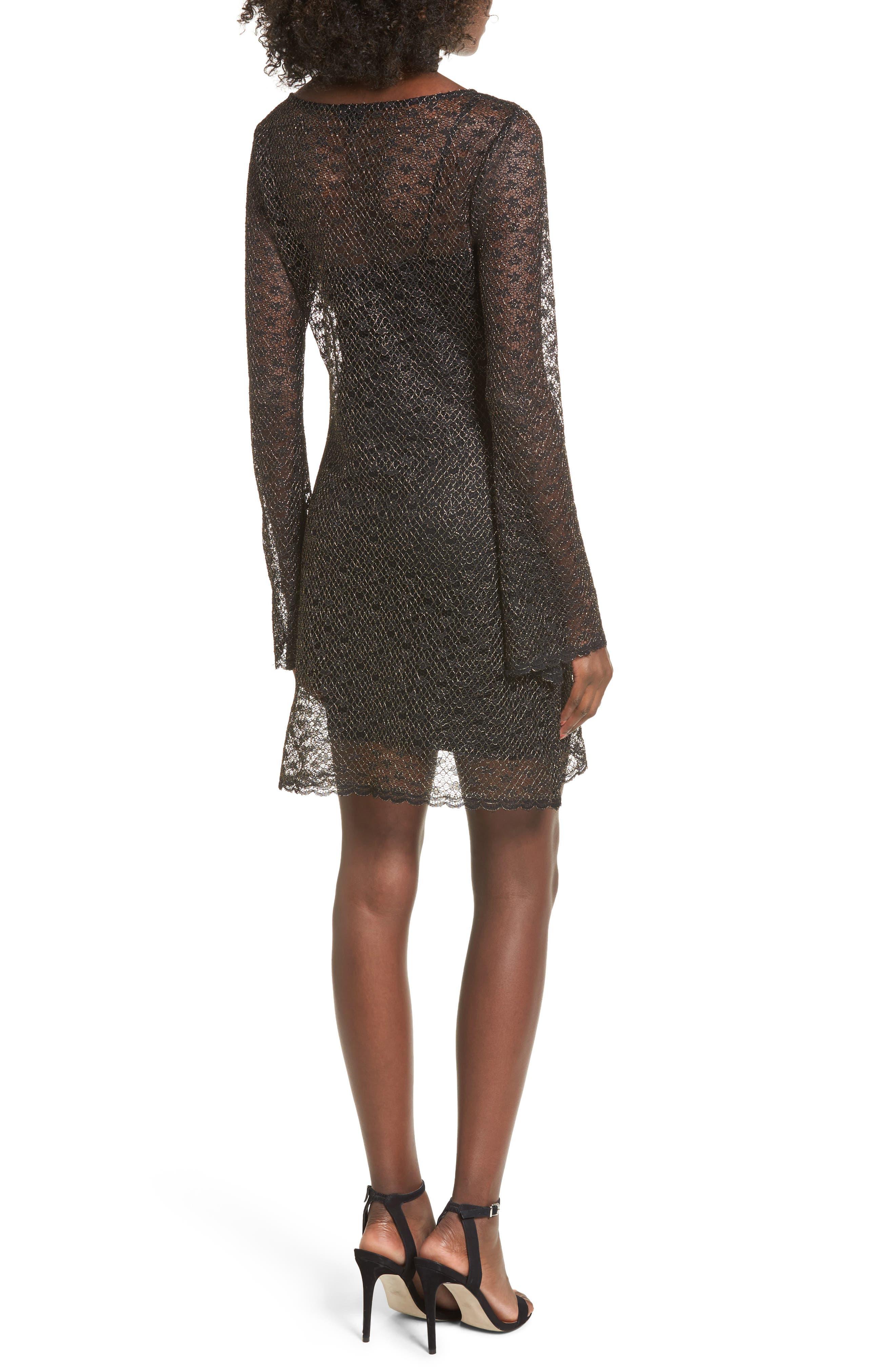 Paisley Sheer Mesh Dress,                             Alternate thumbnail 2, color,                             005