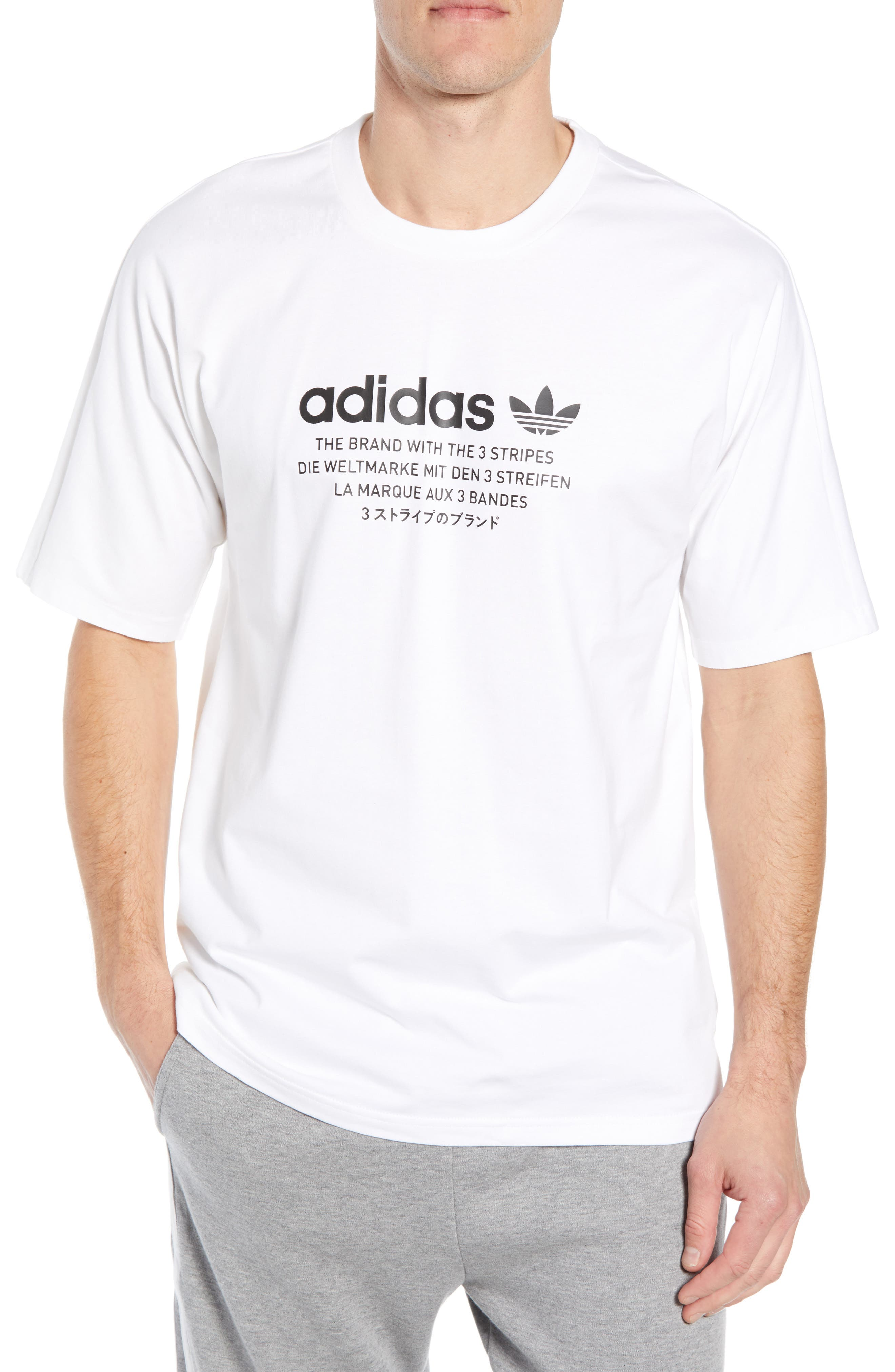 NMD Graphic T-Shirt,                         Main,                         color, WHITE