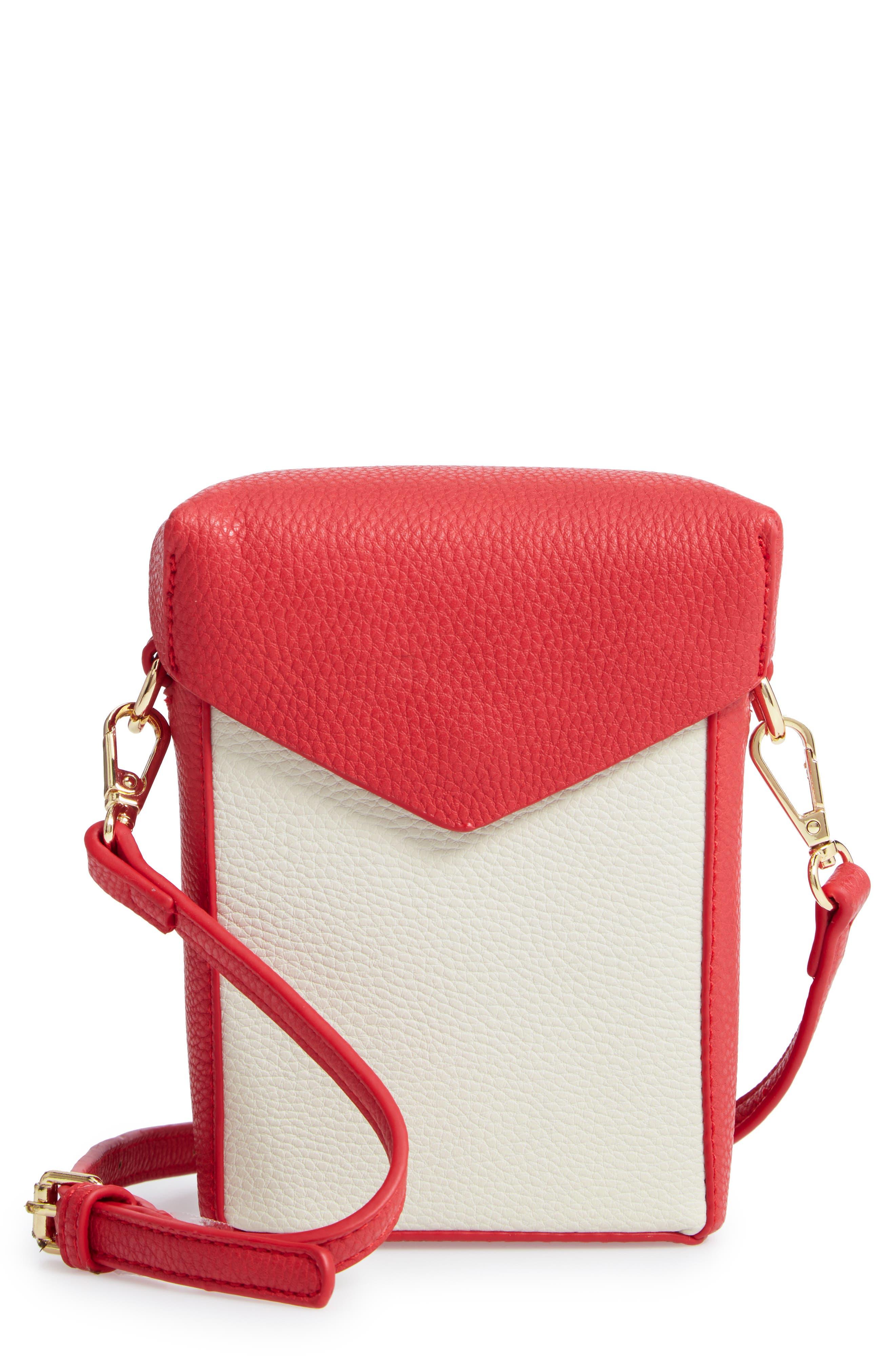 JULES KAE,                             Tabitha Faux Leather Crossbody Bag,                             Main thumbnail 1, color,                             100