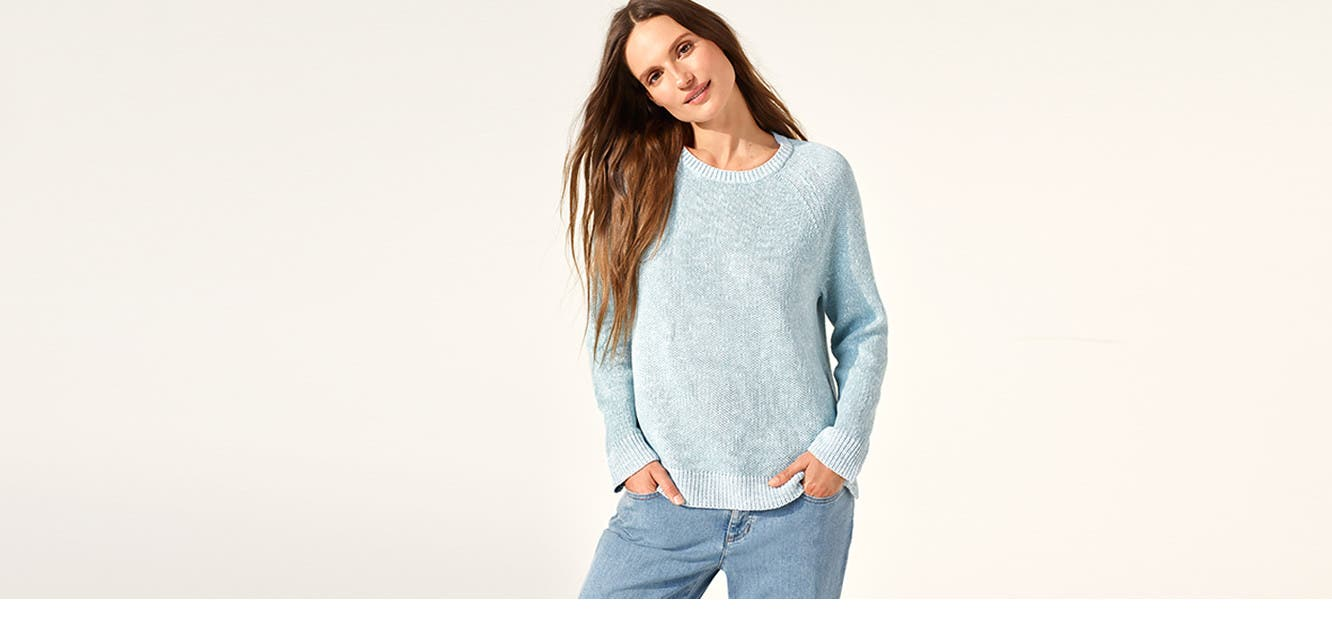 Eileen Fisher: time to lighten up.