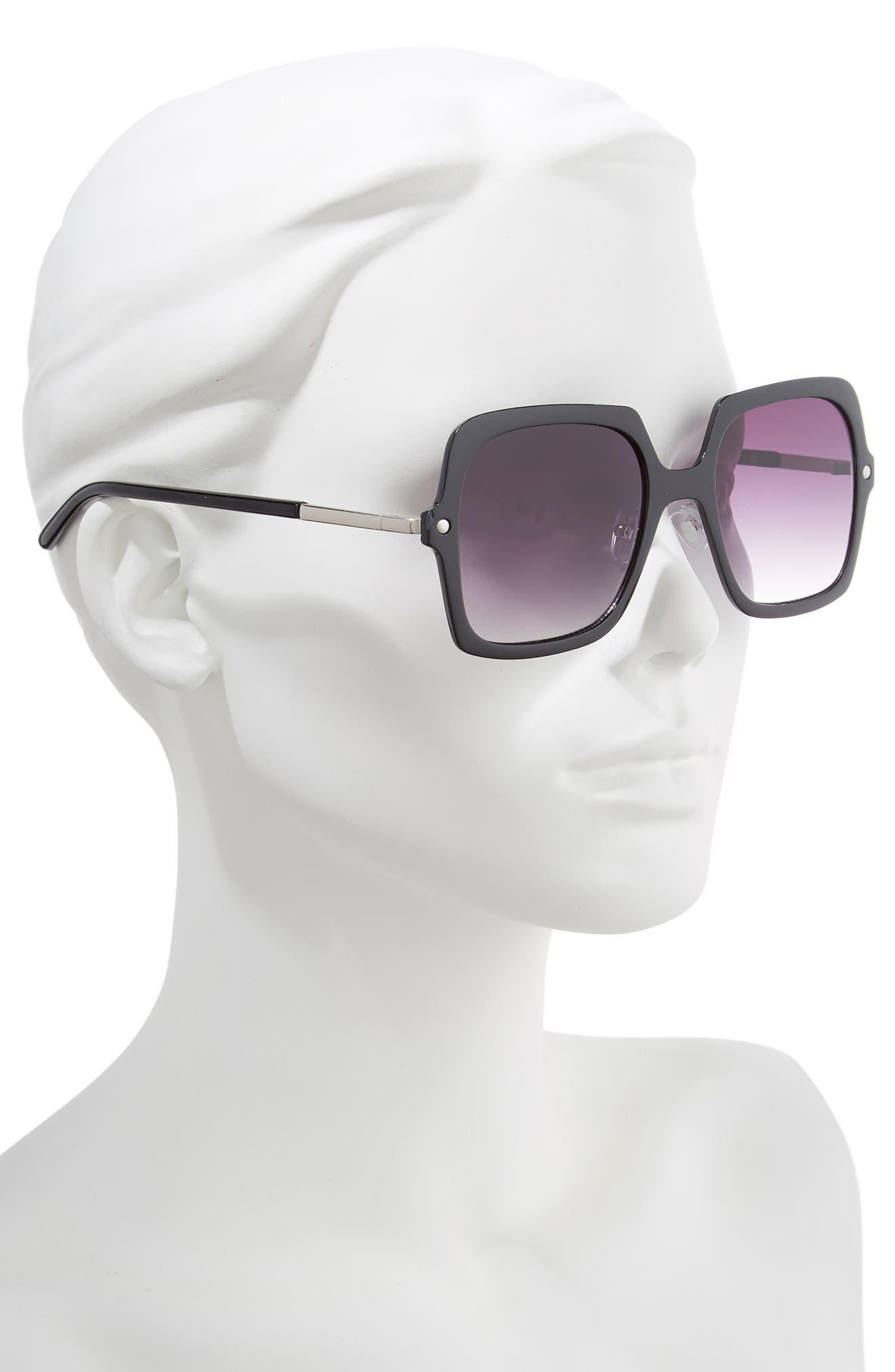 BP.,                             Translucent Square Sunglasses,                             Alternate thumbnail 2, color,                             001