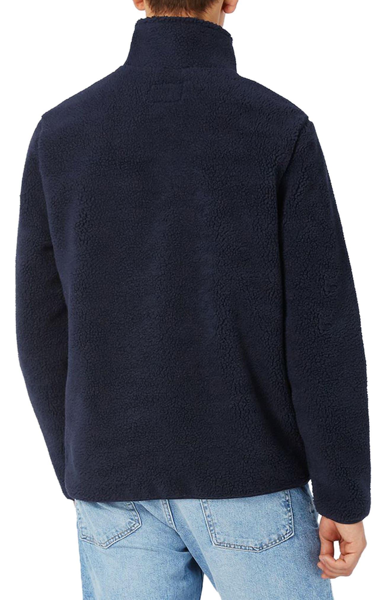 Textured Borg Fleece Jacket,                             Alternate thumbnail 2, color,                             401