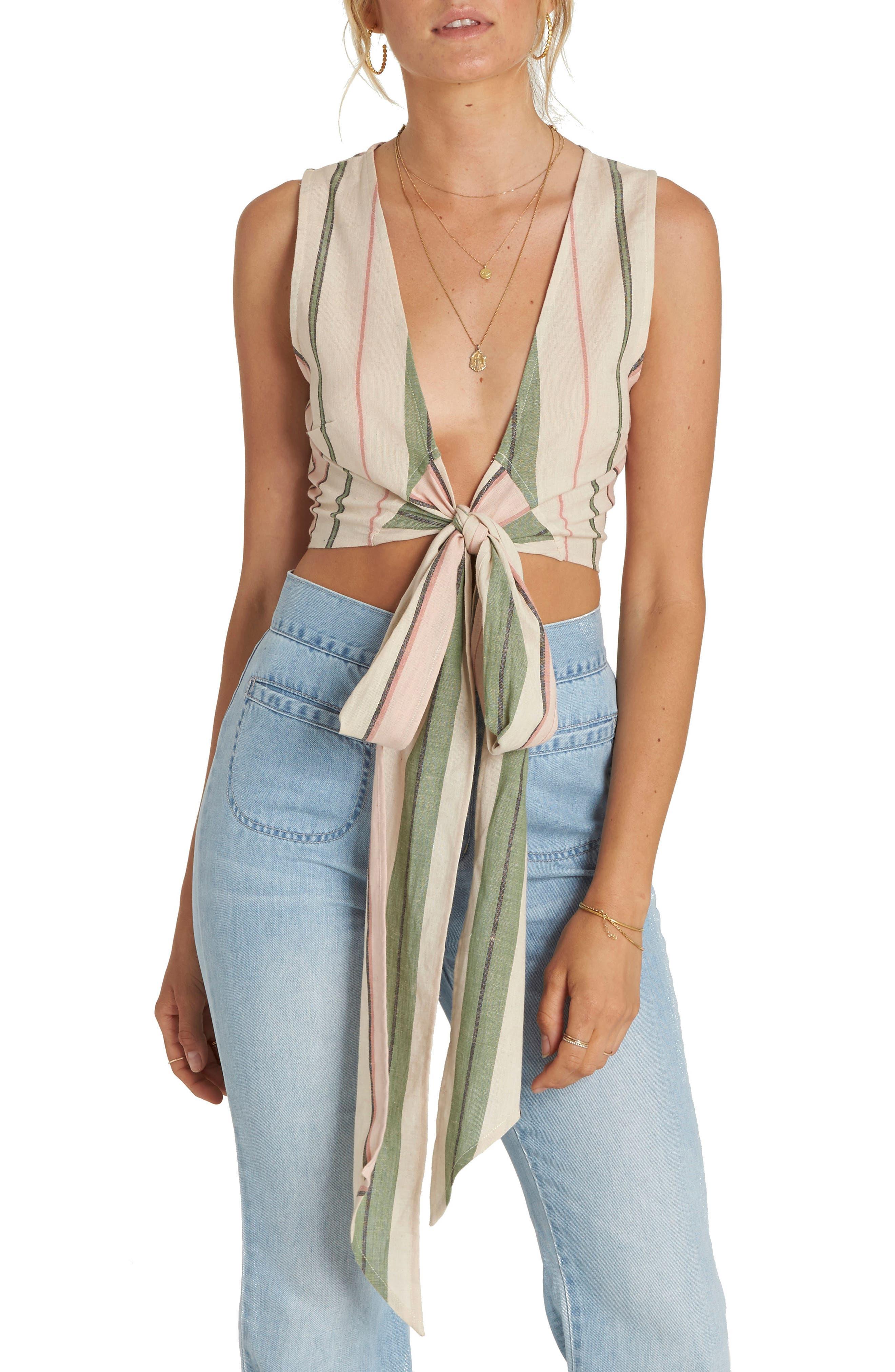 Wrap It Up Stripe Crop Top,                         Main,                         color, 900