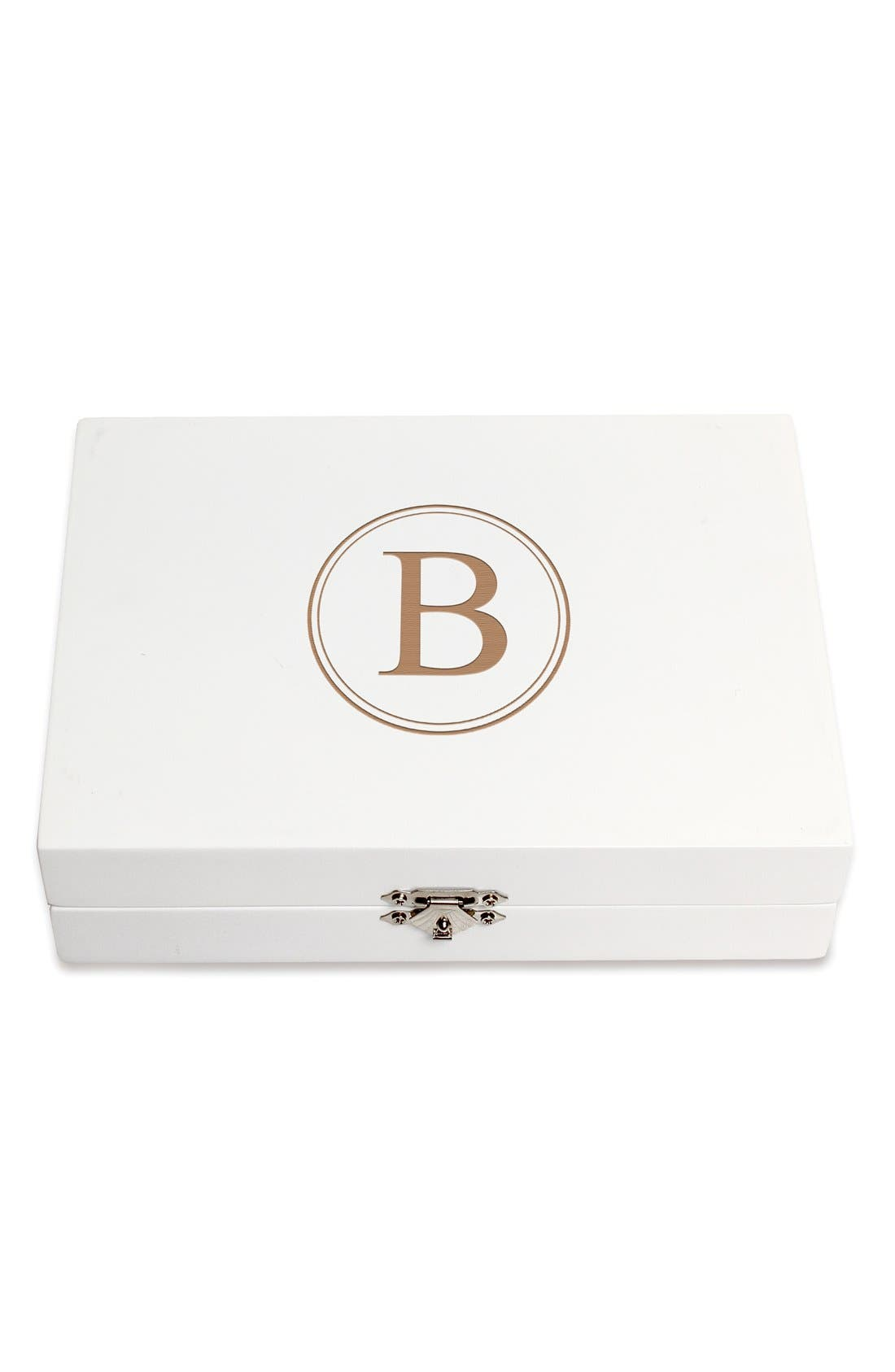 Monogram Wooden Jewelry Box,                             Main thumbnail 31, color,