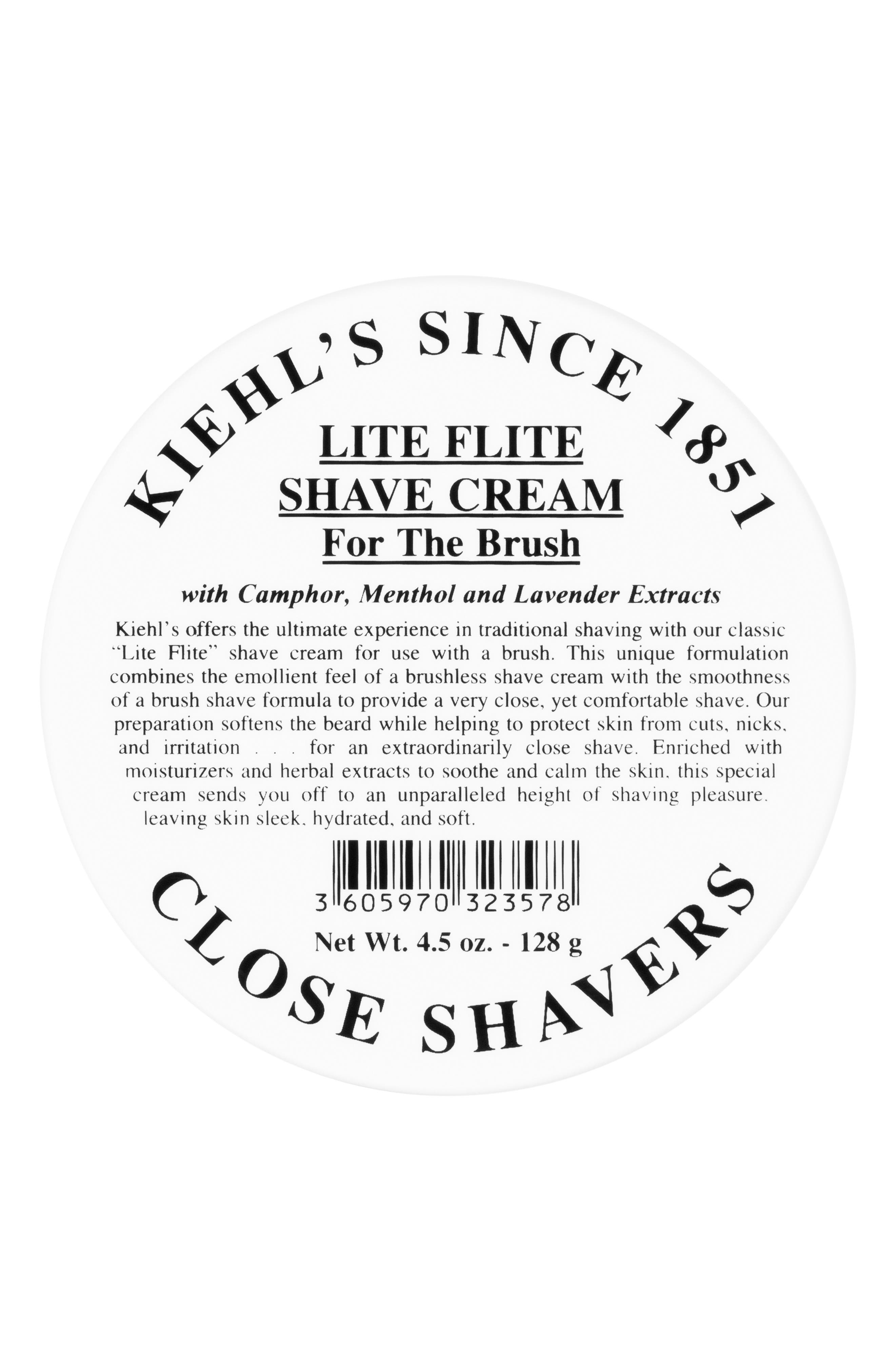 Lite Flite Shave Cream,                             Main thumbnail 1, color,                             000