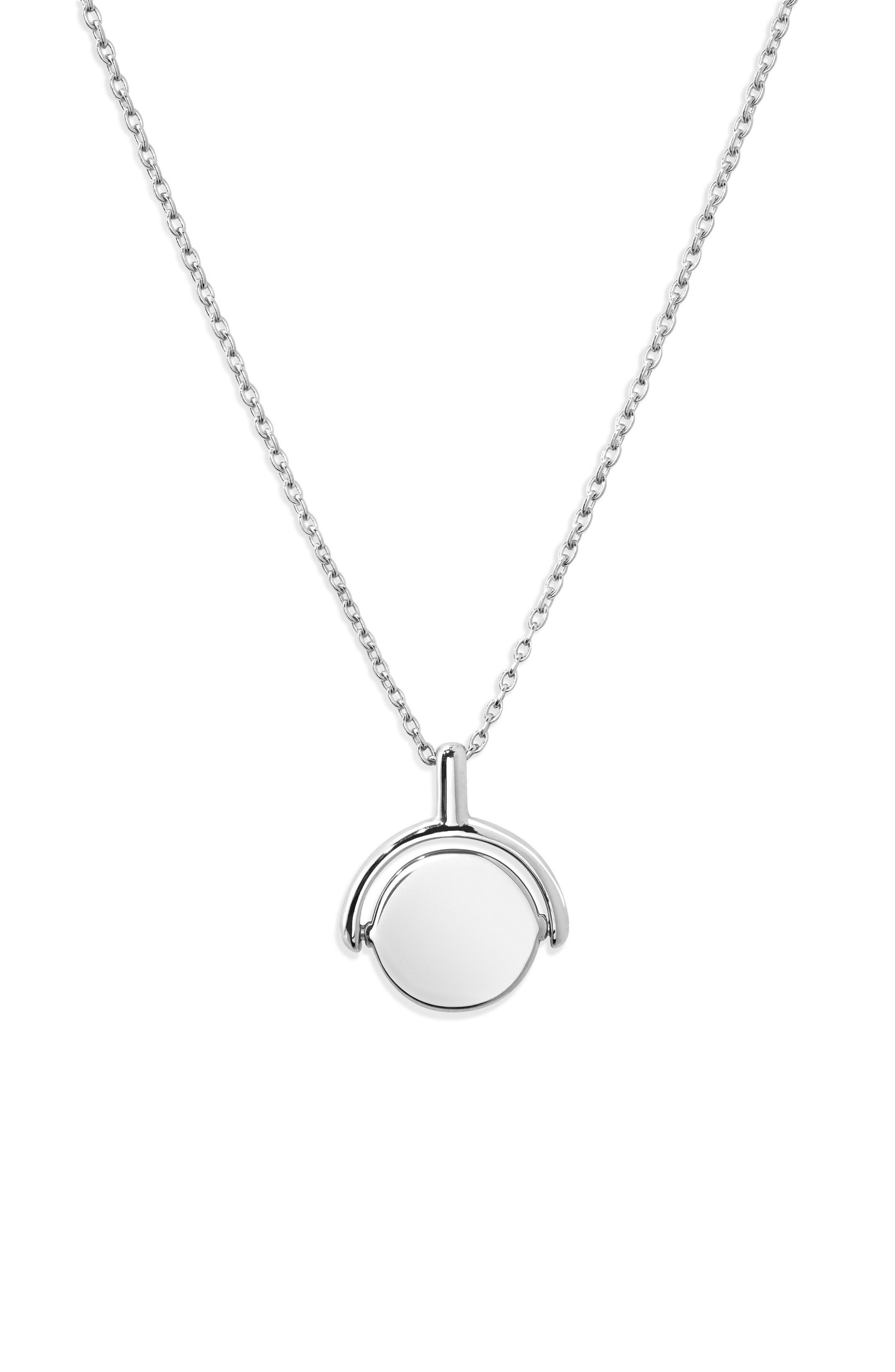 Rotating Signet Pendant Necklace,                         Main,                         color, 040