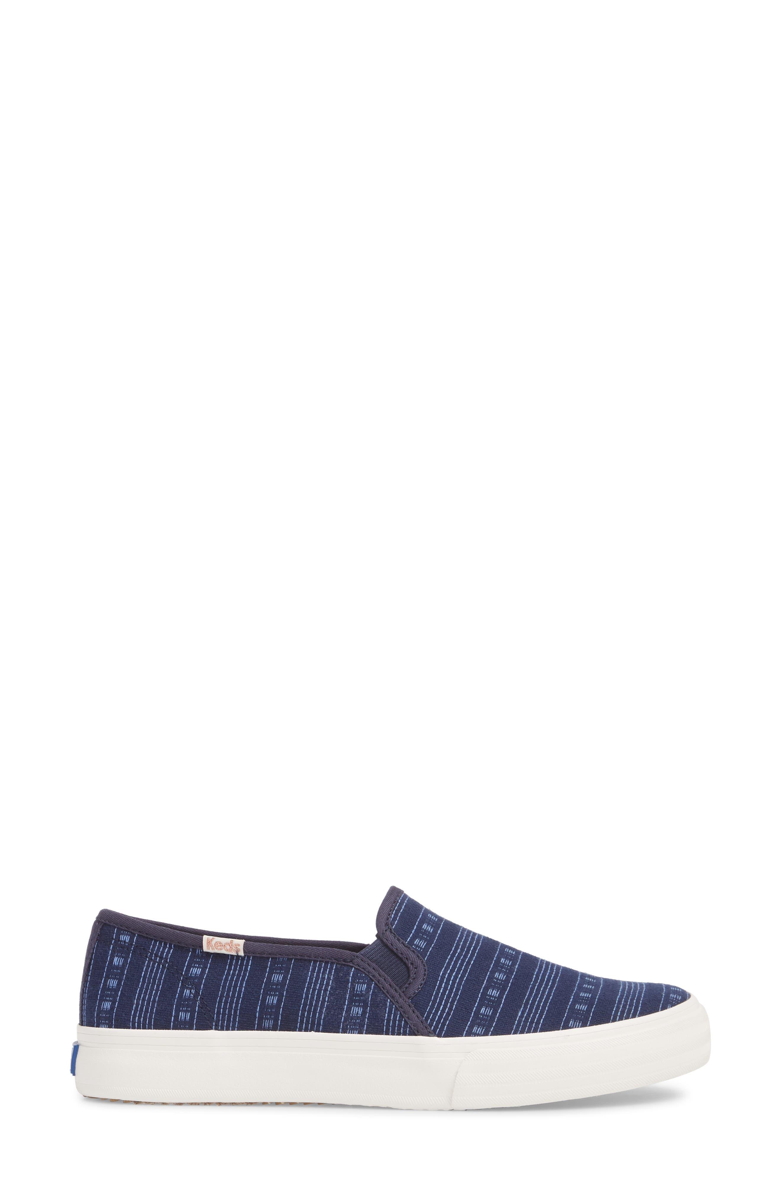 Double Decker Summer Stripe Slip-On Sneaker,                             Alternate thumbnail 3, color,                             410