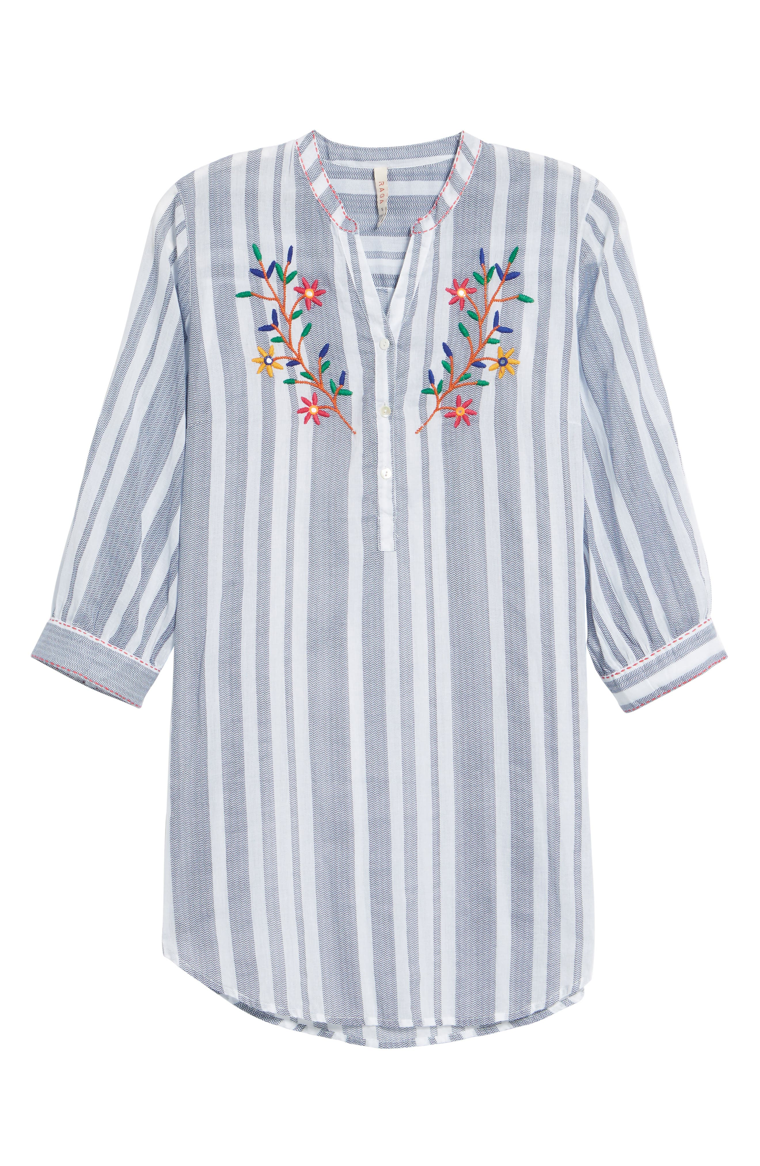 Setting Sail Embroidered Stripe Henley,                             Alternate thumbnail 6, color,                             470