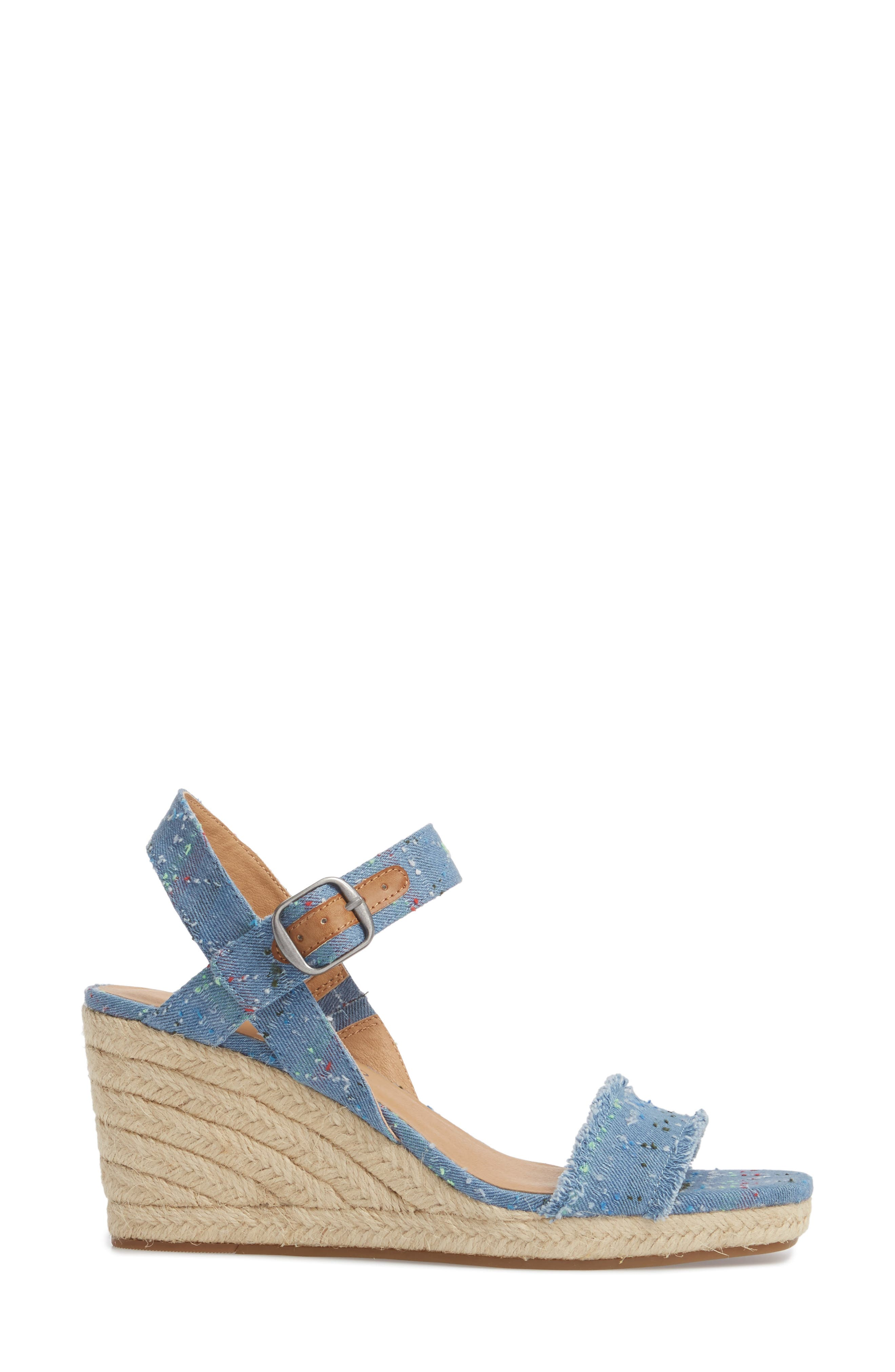 Marceline Squared Toe Wedge Sandal,                             Alternate thumbnail 19, color,