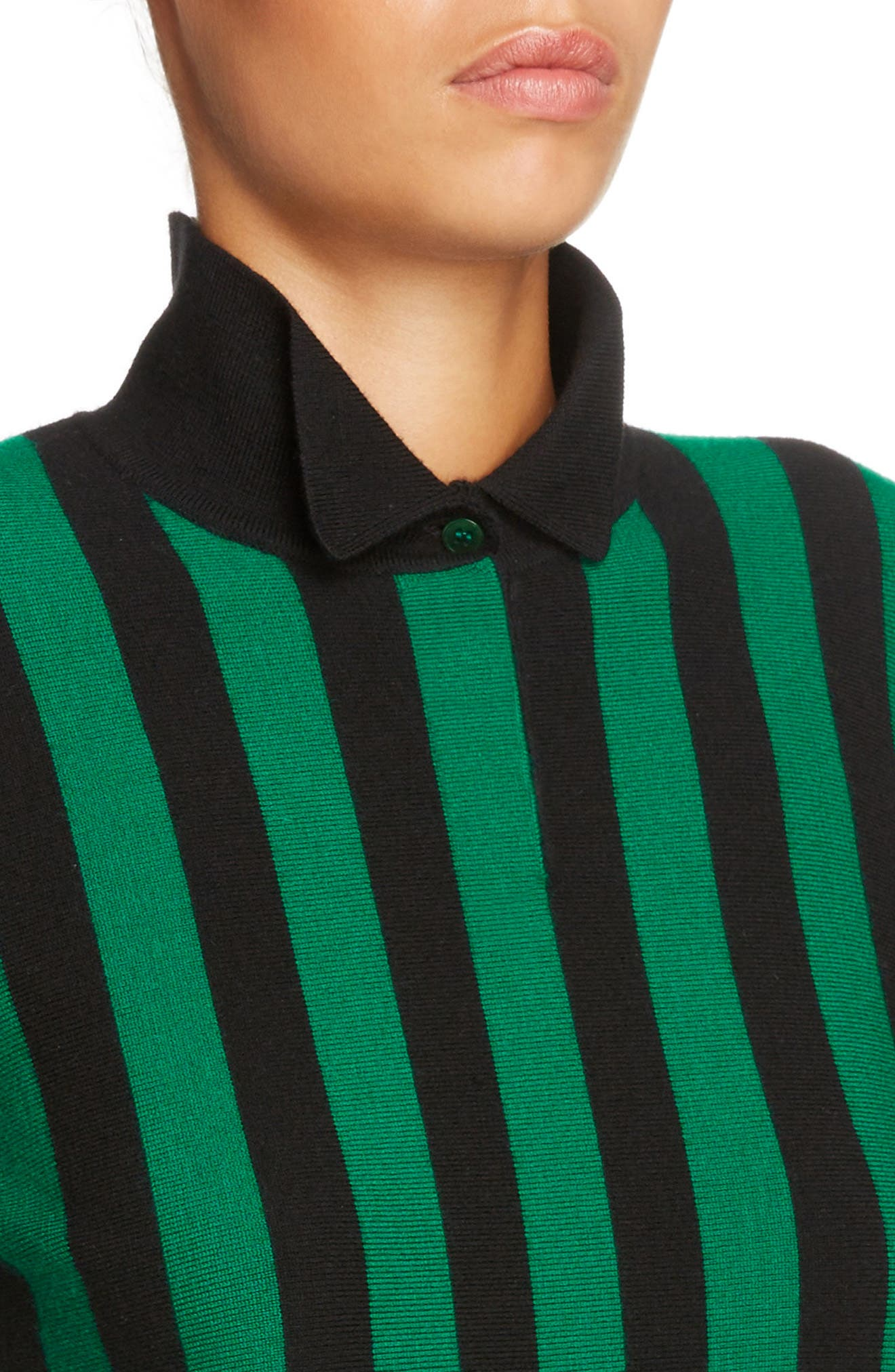 Stripe High Neck Sweater,                             Alternate thumbnail 4, color,