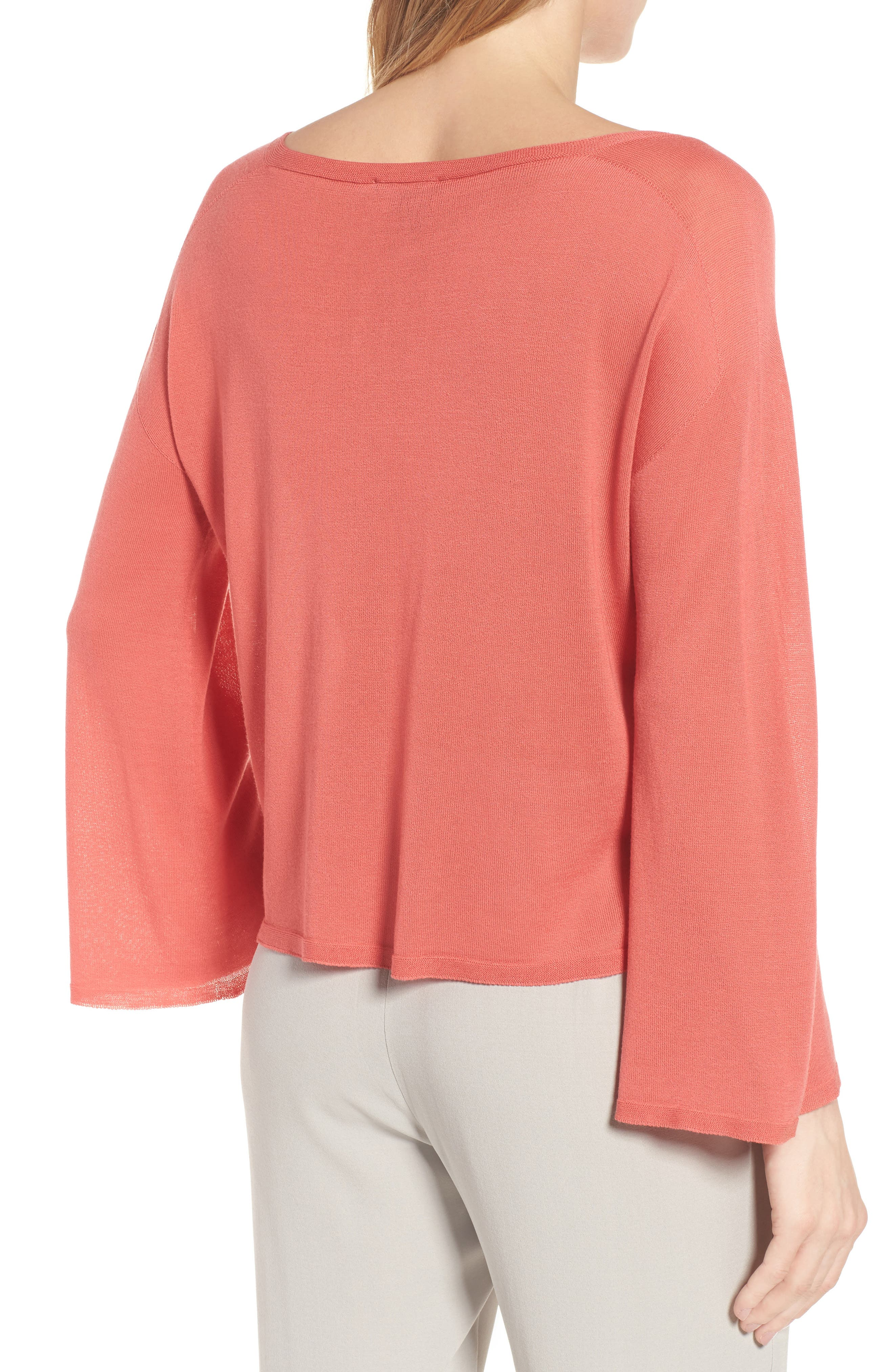 Tencel<sup>®</sup> Lyocell Knit Sweater,                             Alternate thumbnail 6, color,