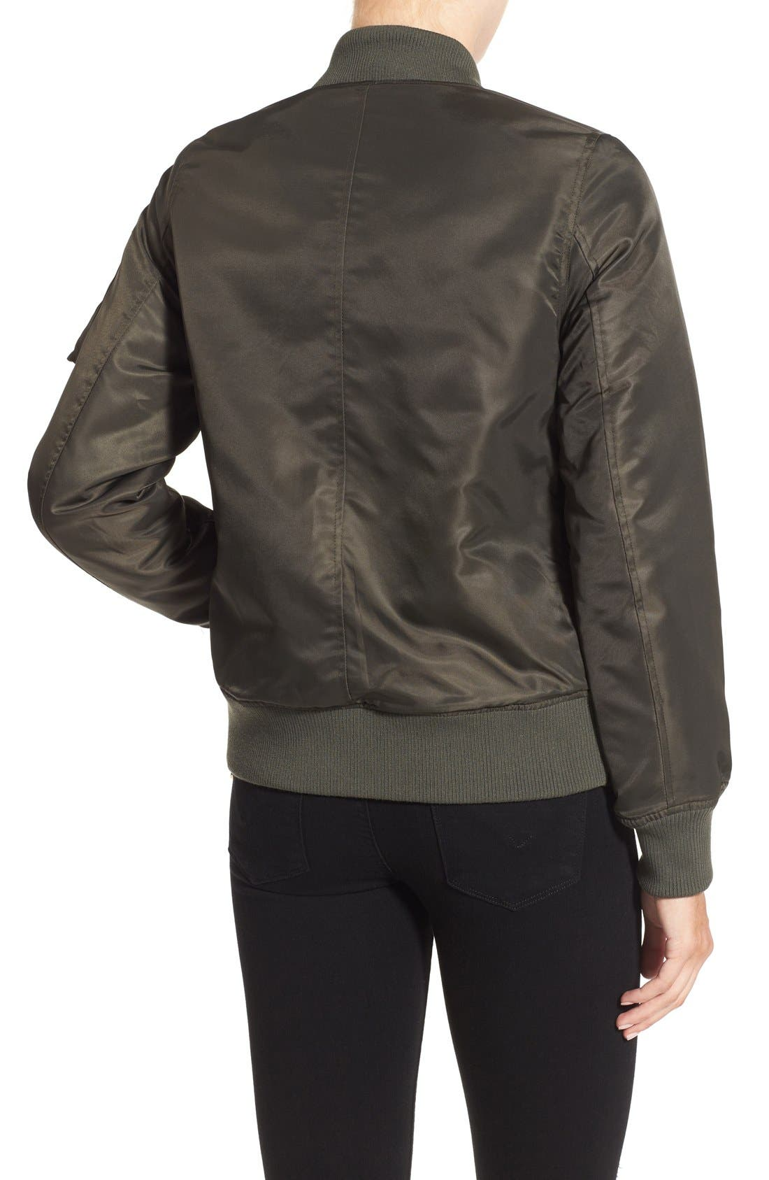 Side Zip Bomber Jacket,                             Alternate thumbnail 30, color,