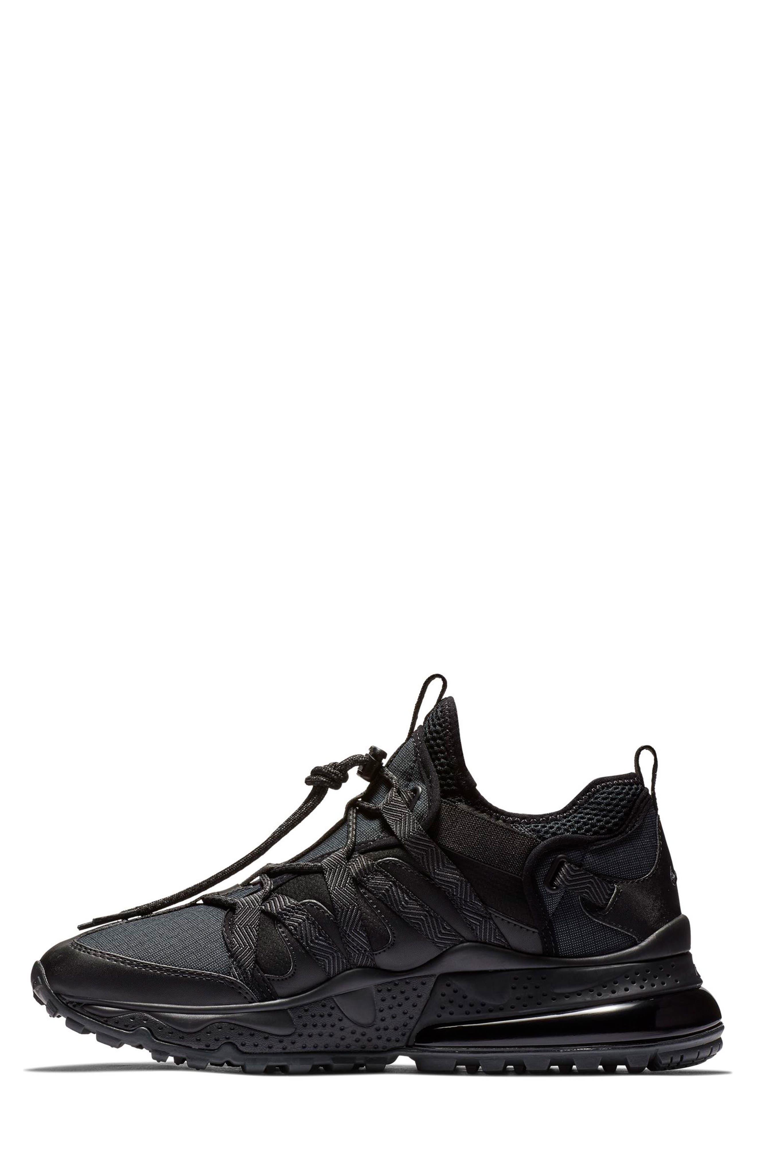 Air Max 270 Bowfin Sneaker,                             Alternate thumbnail 6, color,                             BLACK/ ANTHRACITE/ BLACK