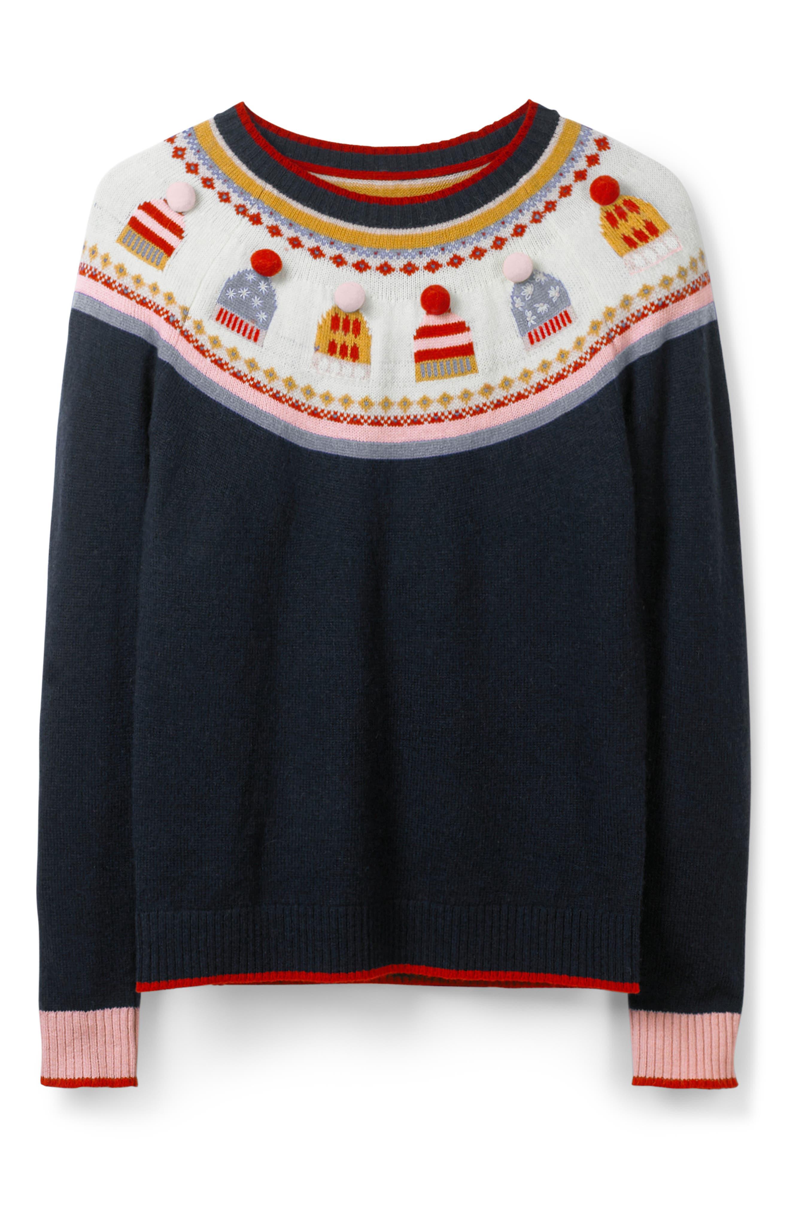 Holiday Fair Isle Sweater,                             Alternate thumbnail 5, color,                             404