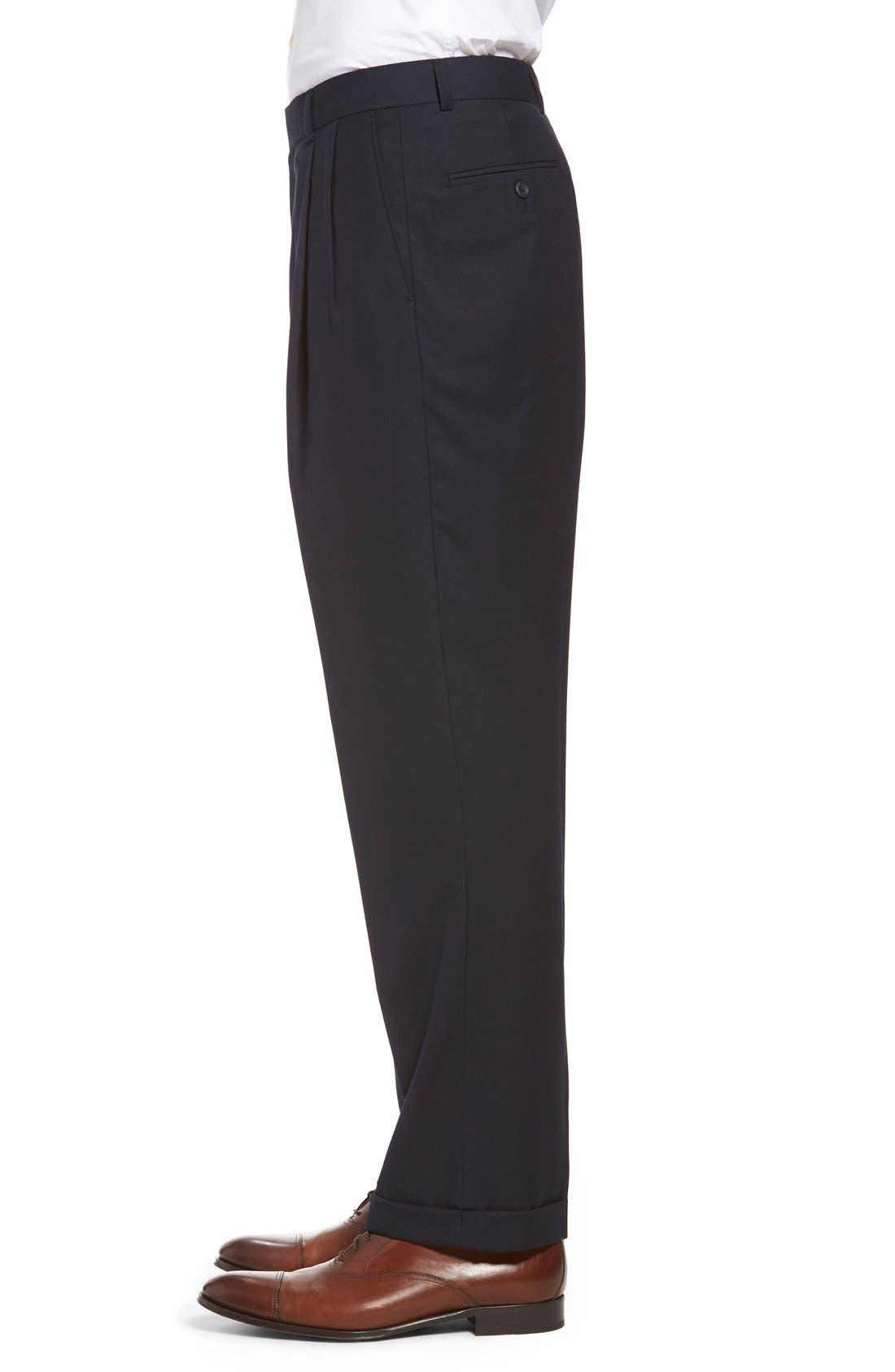 Pleated Microfiber Dress Pants,                             Alternate thumbnail 17, color,