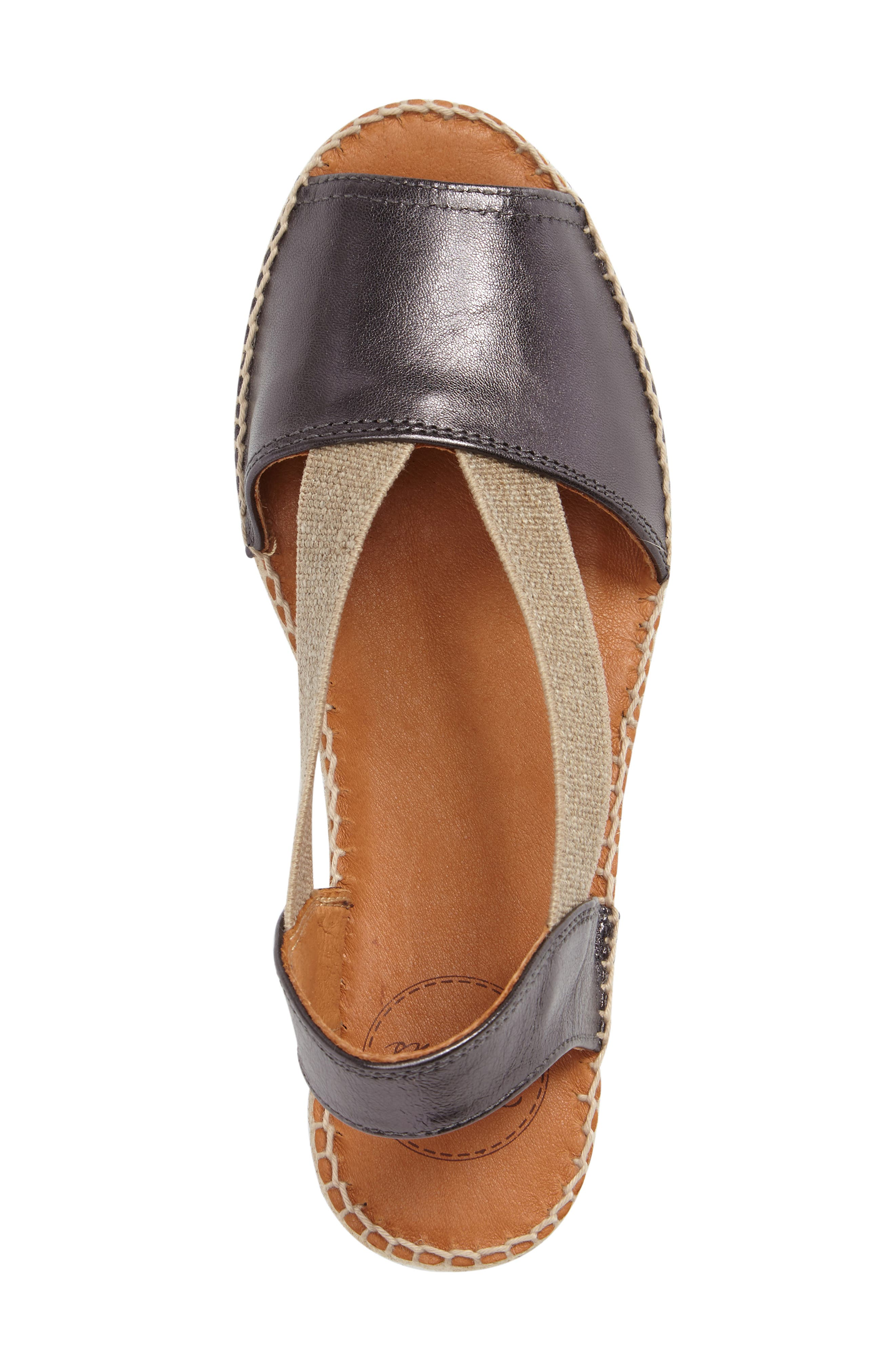 Etna Espadrille Sandal,                             Alternate thumbnail 3, color,                             LEAD LEATHER