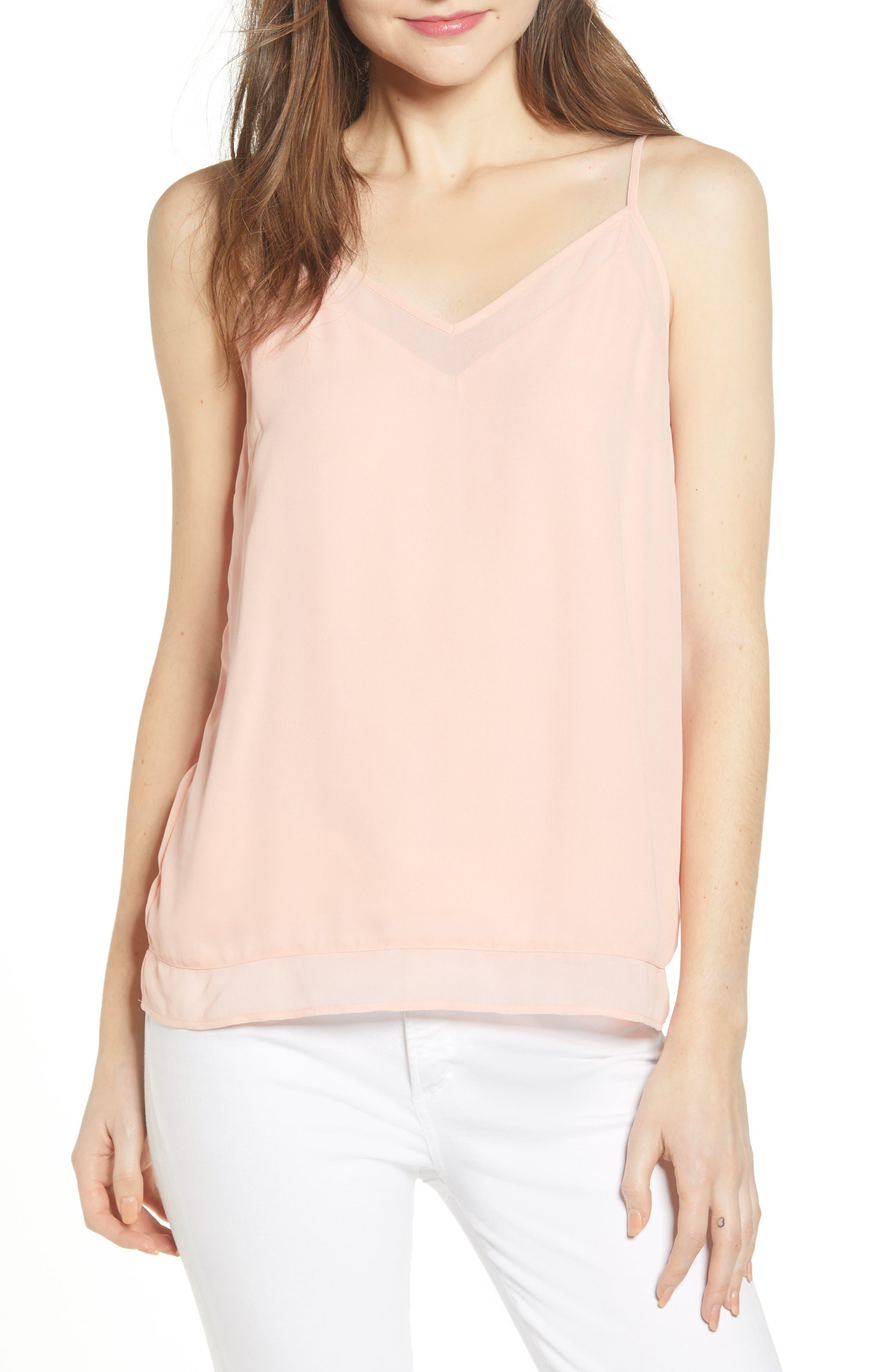 Chelsea28 Illusion Camisole, Pink