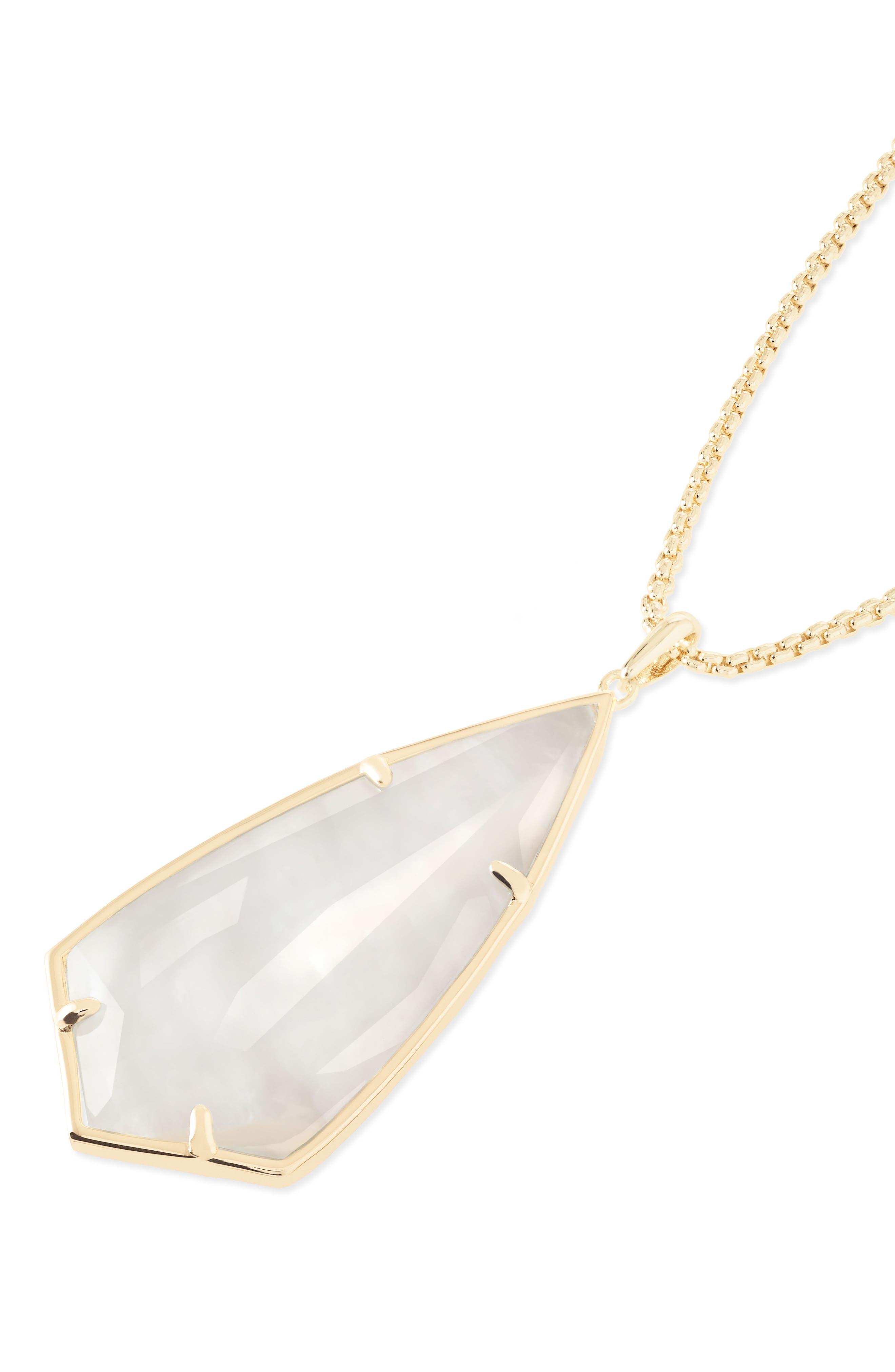 'Carole' Long Semiprecious Stone Pendant Necklace,                             Alternate thumbnail 35, color,