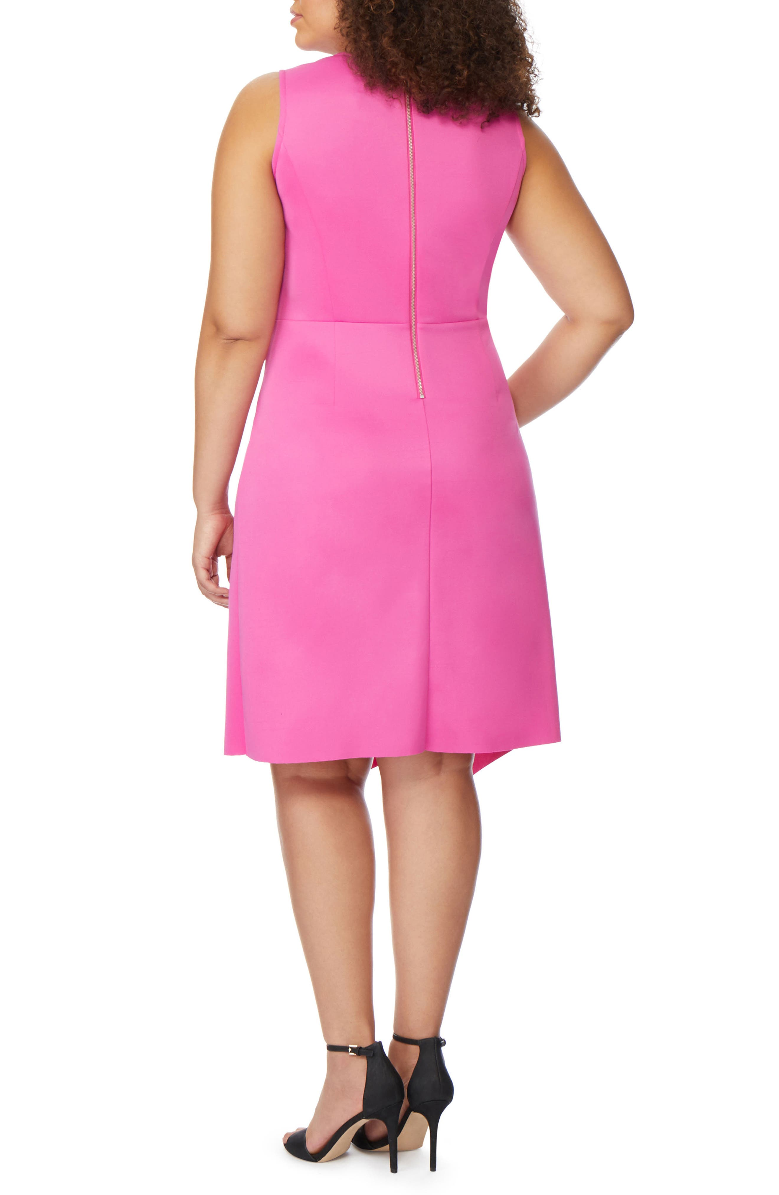 Asymmetrical Hem Ruffle Dress,                             Alternate thumbnail 2, color,                             ROSE VIOLET