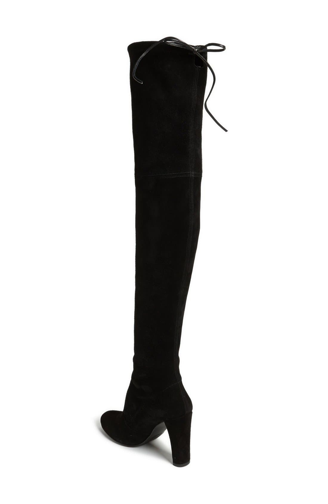 'Highland' Over the Knee Boot,                             Alternate thumbnail 5, color,                             BLACK SUEDE