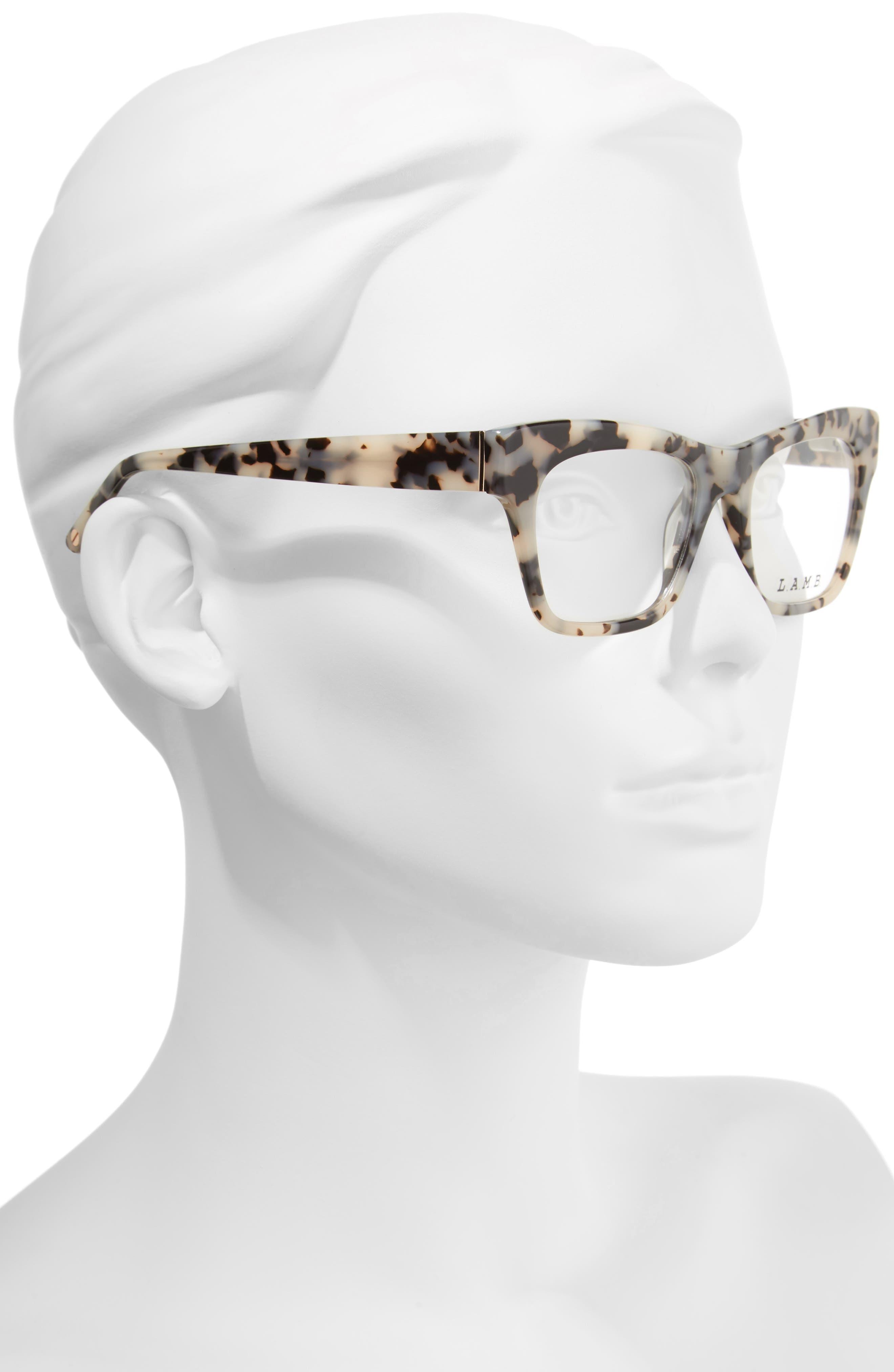 50mm Optical Rectangular Glasses,                             Alternate thumbnail 4, color,