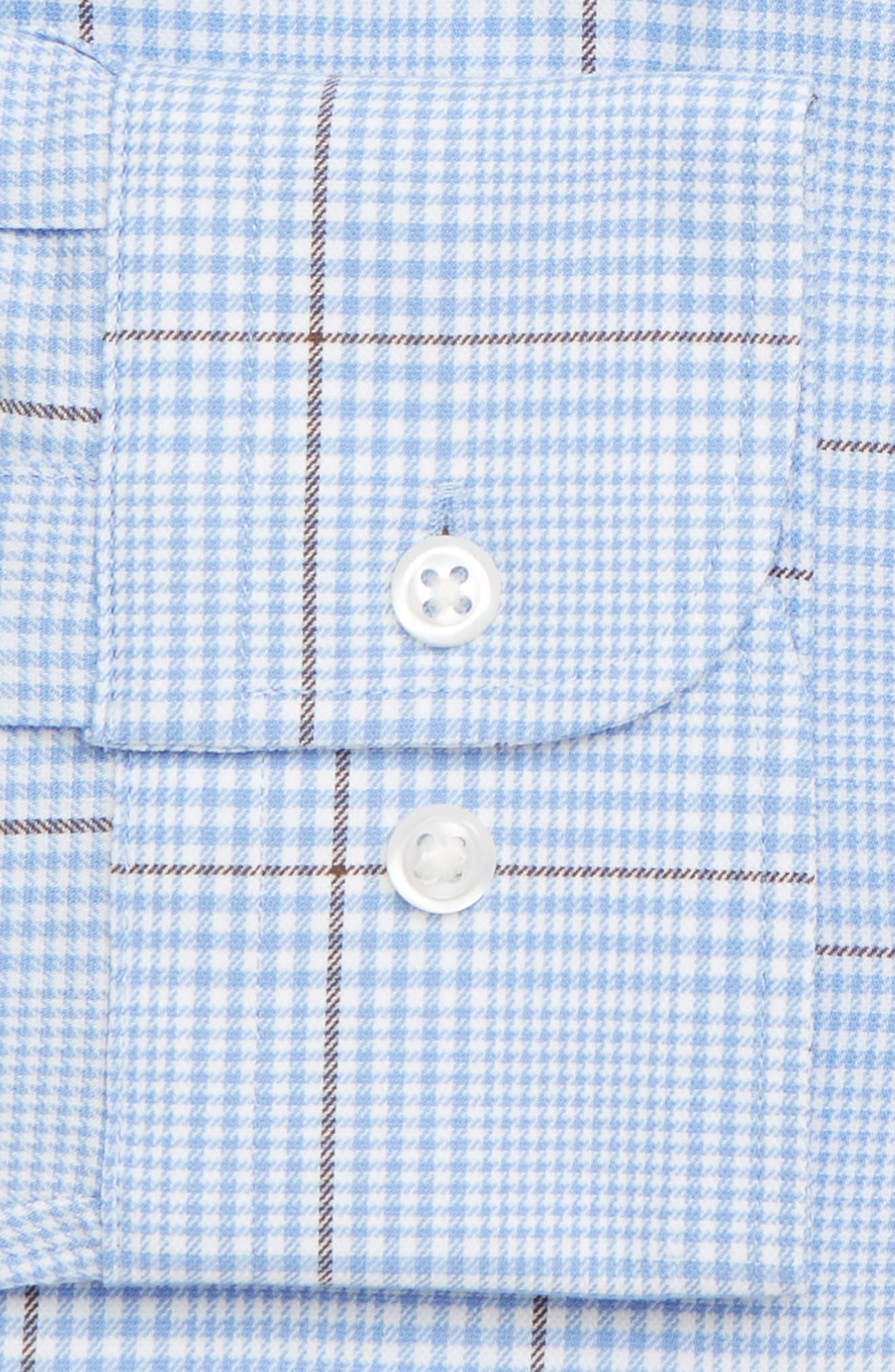 Tech-Smart Traditional Fit Plaid Dress Shirt,                             Alternate thumbnail 2, color,                             BLUE HAZE