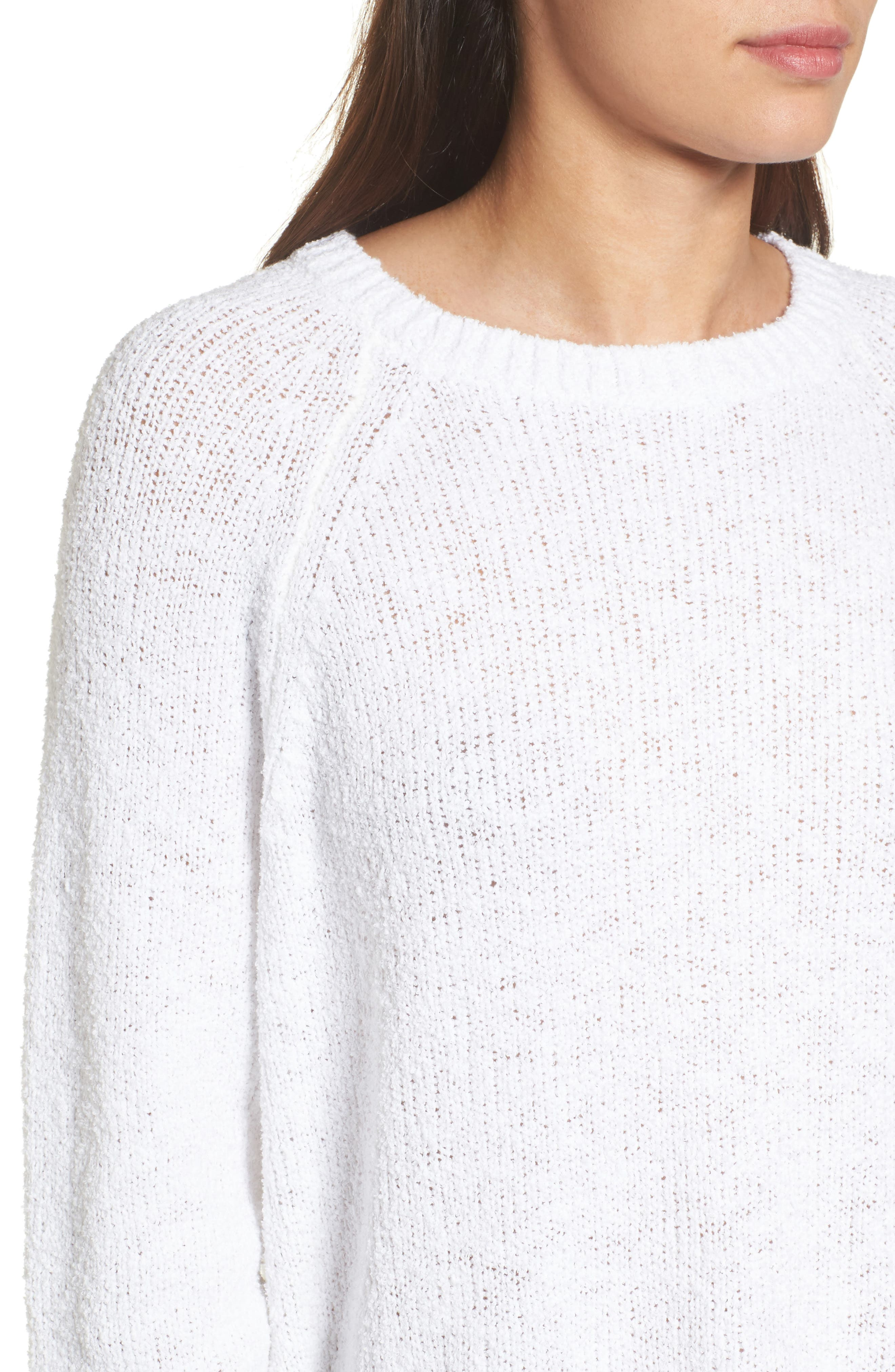 Relaxed Crewneck Sweater,                             Alternate thumbnail 4, color,                             100