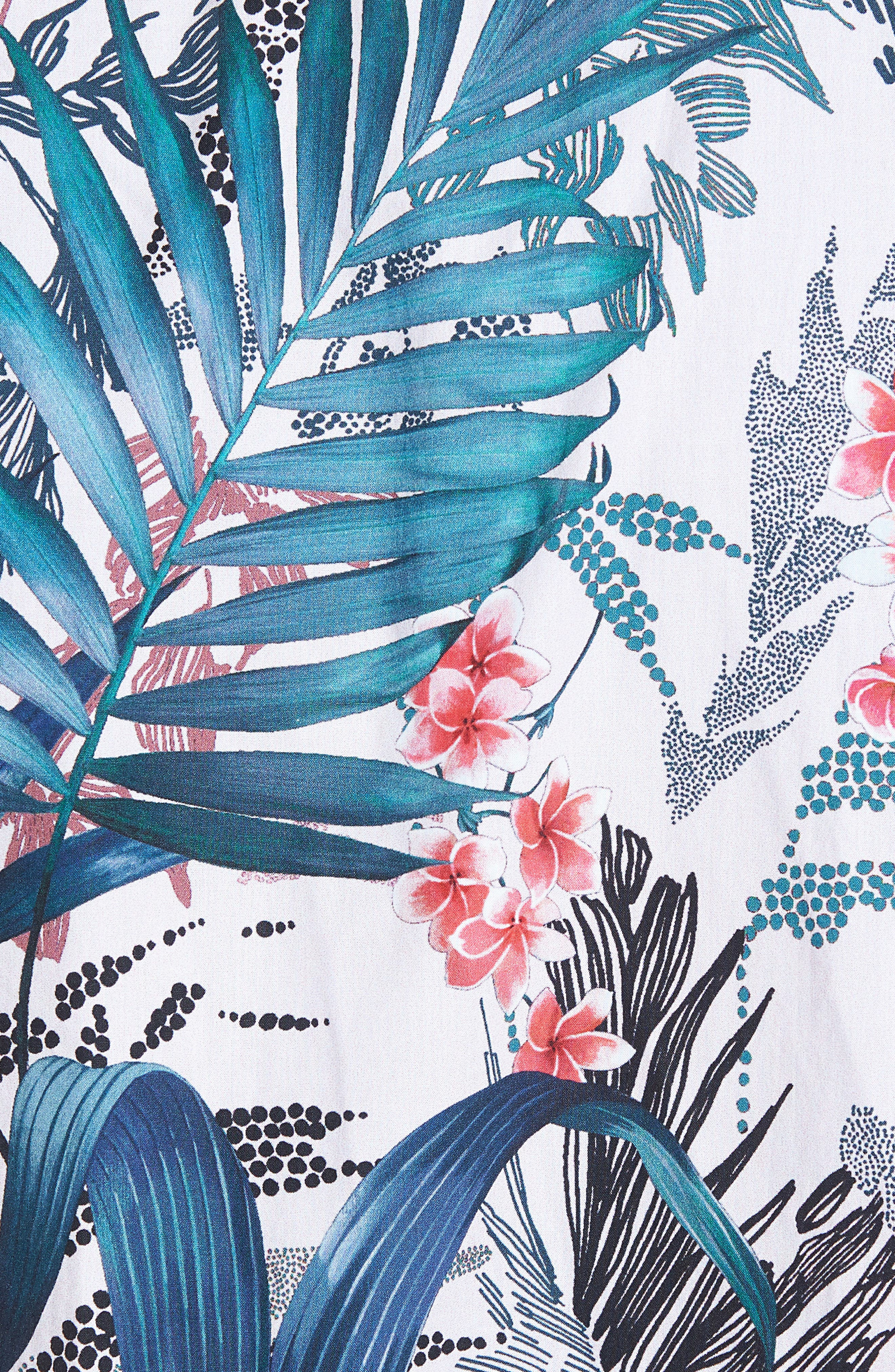Premium Slim Fit Floral Print Sport Shirt,                             Alternate thumbnail 5, color,                             400