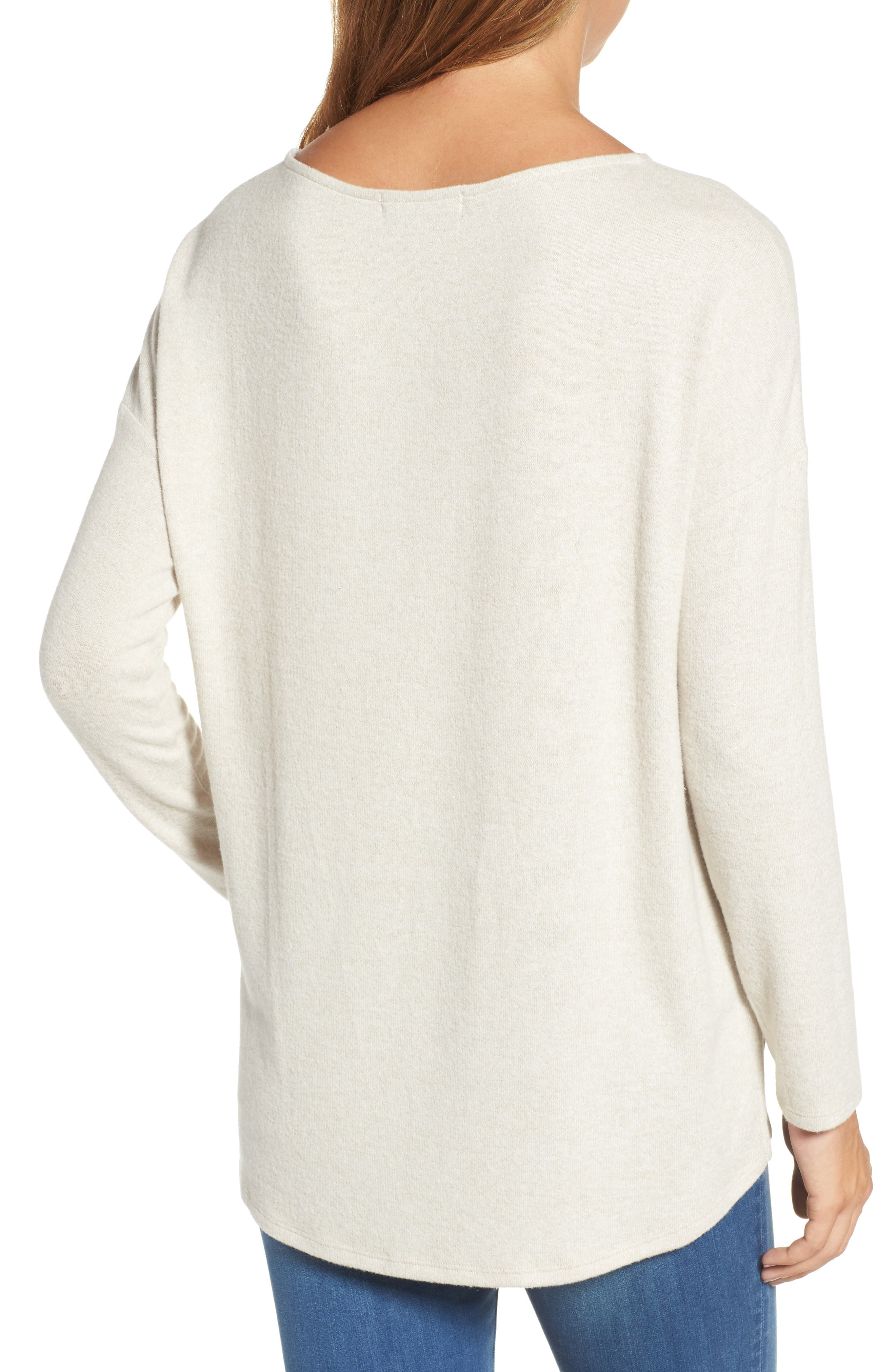 Cozy Ballet Neck High/Low Pullover,                             Alternate thumbnail 2, color,                             250