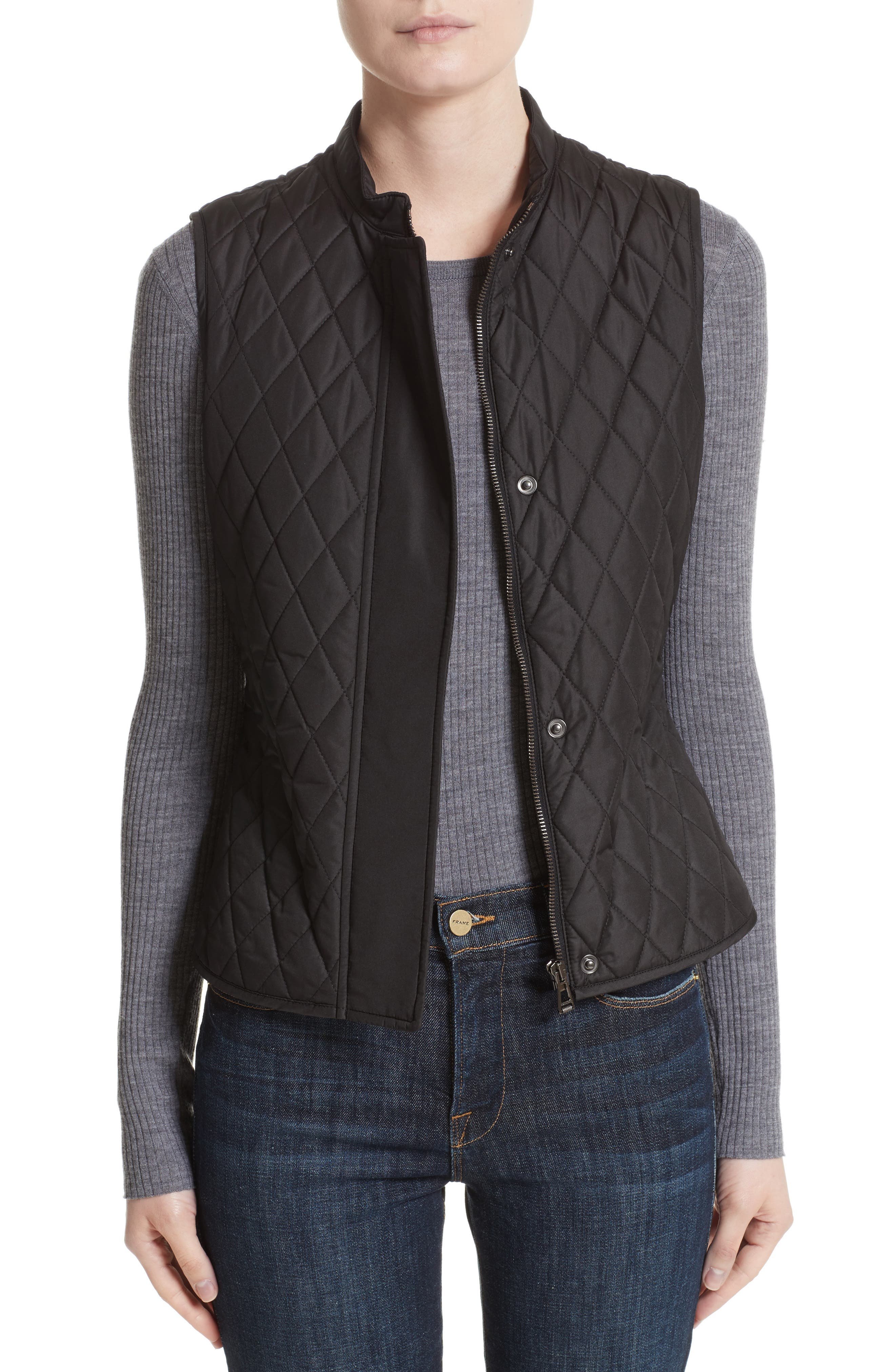 Westwell Technical Quilted Vest,                             Main thumbnail 1, color,                             001