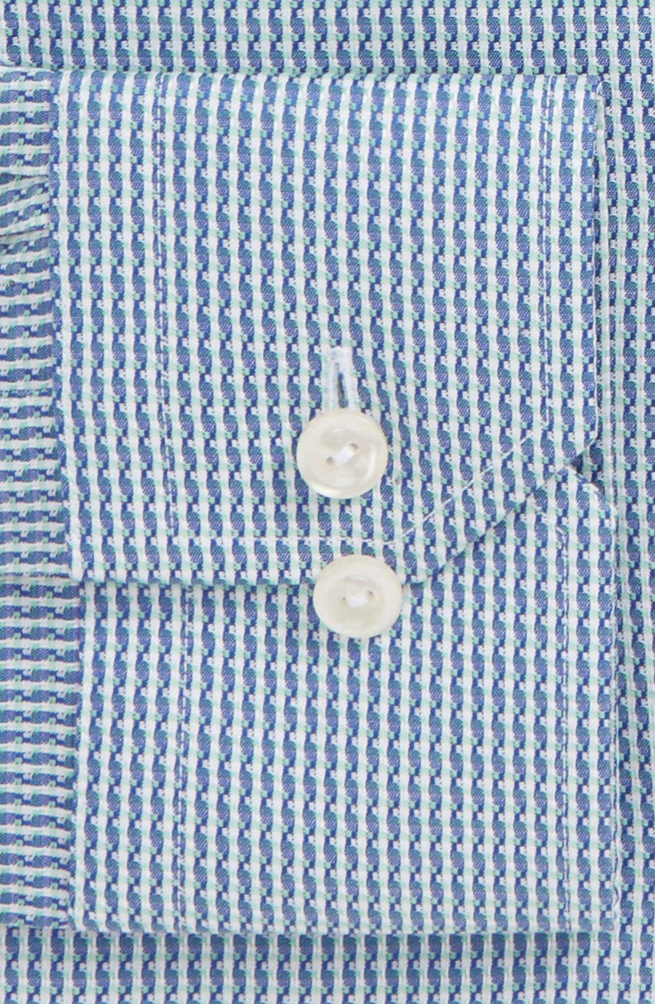 Contemporary Fit Pattern Jacquard Dress Shirt,                             Alternate thumbnail 6, color,                             400