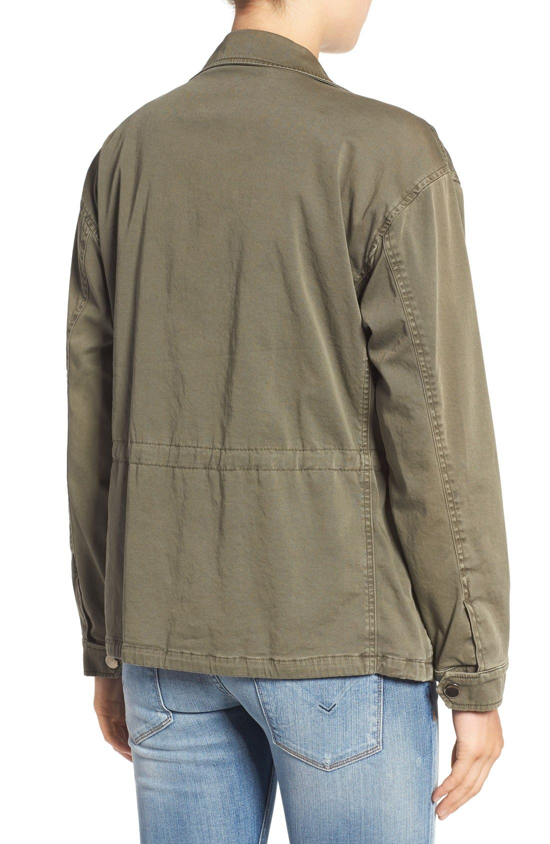 'Sienna' Stretch Cotton Field Jacket,                             Alternate thumbnail 2, color,                             300