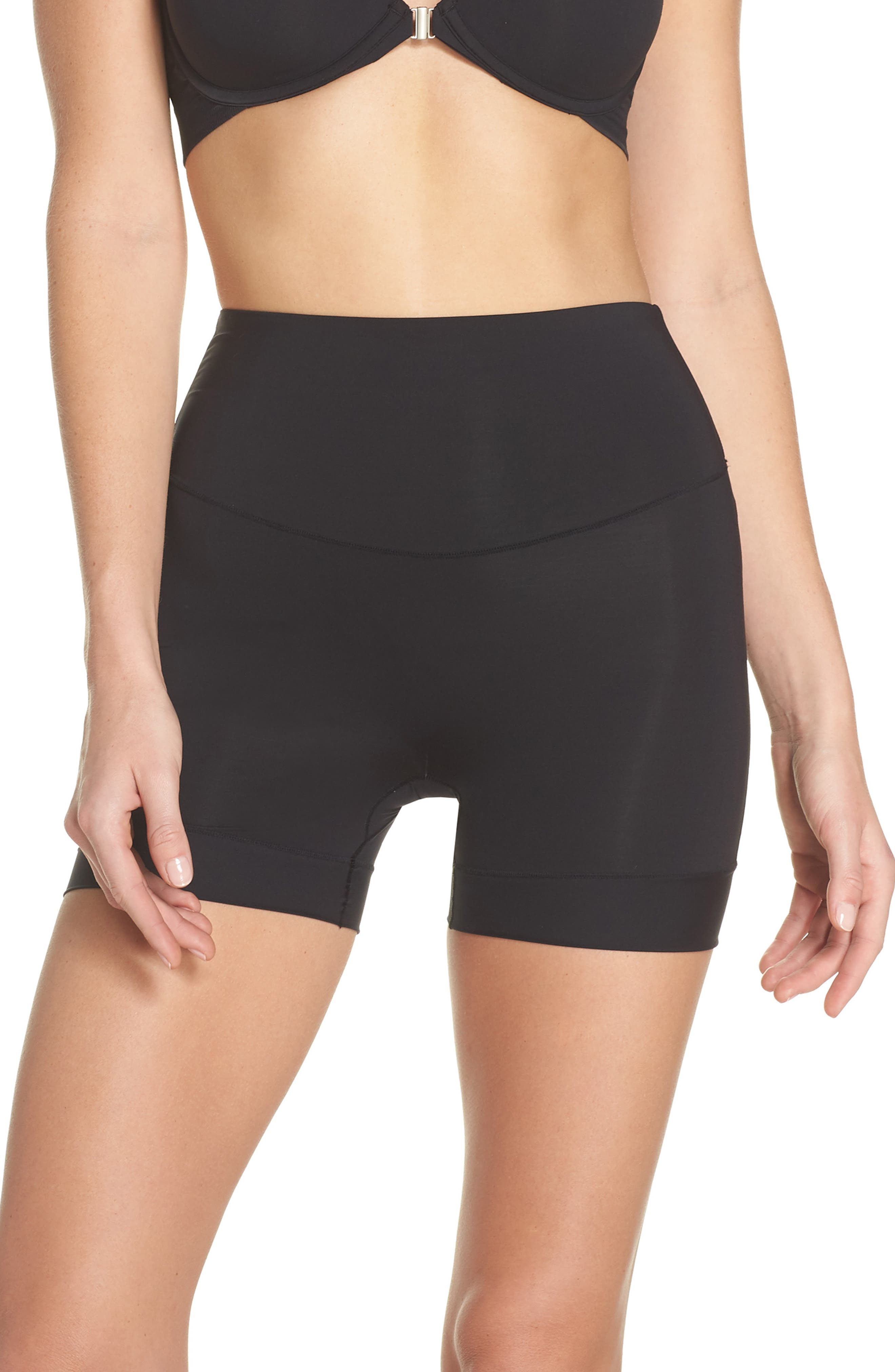 Tummie Tamers Mid Waist Shaping Shorts,                             Main thumbnail 1, color,                             001