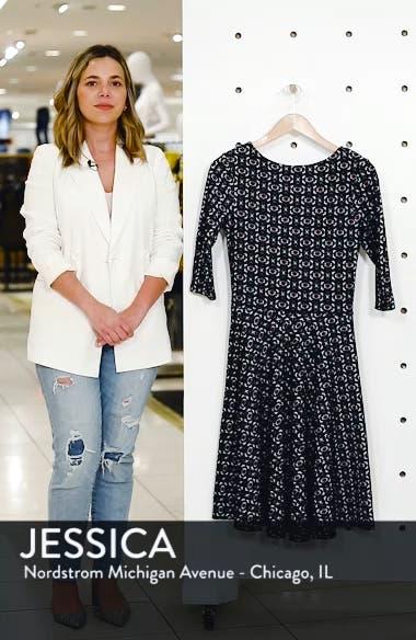 Circle Knit Fit & Flare Dress, sales video thumbnail